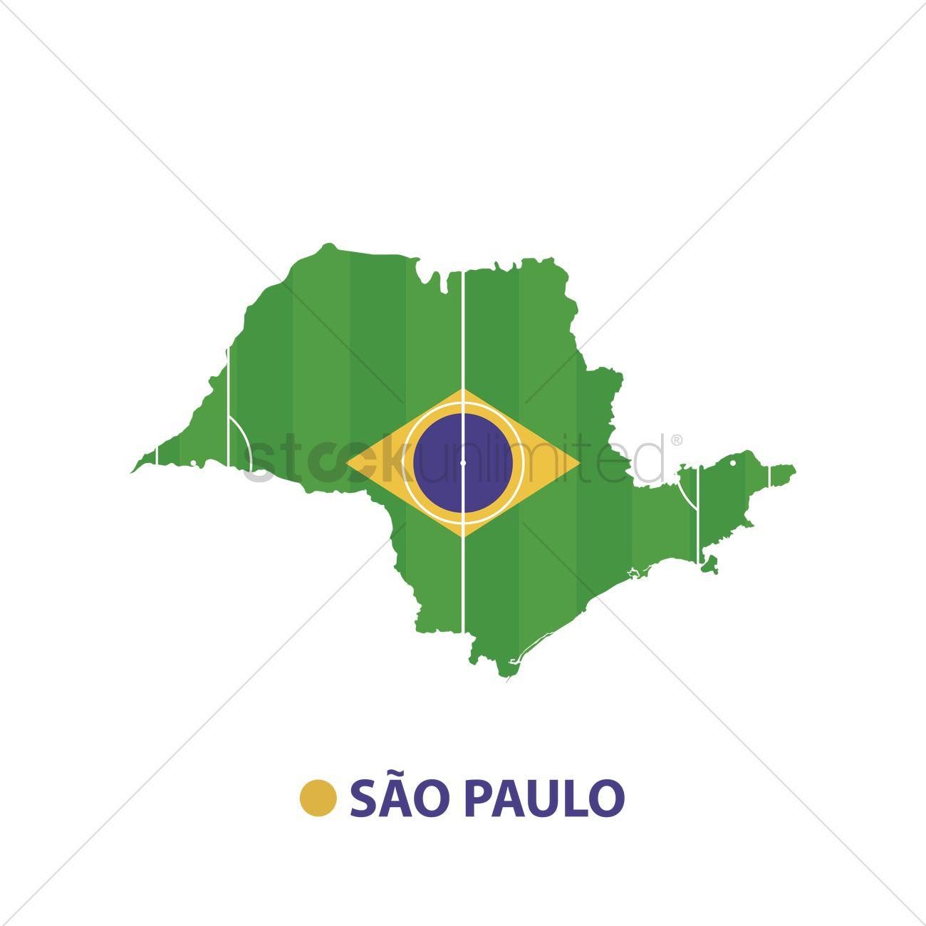 Sao Paulo State Map.Sao Paulo State Map Vector Image 1581095 Stockunlimited