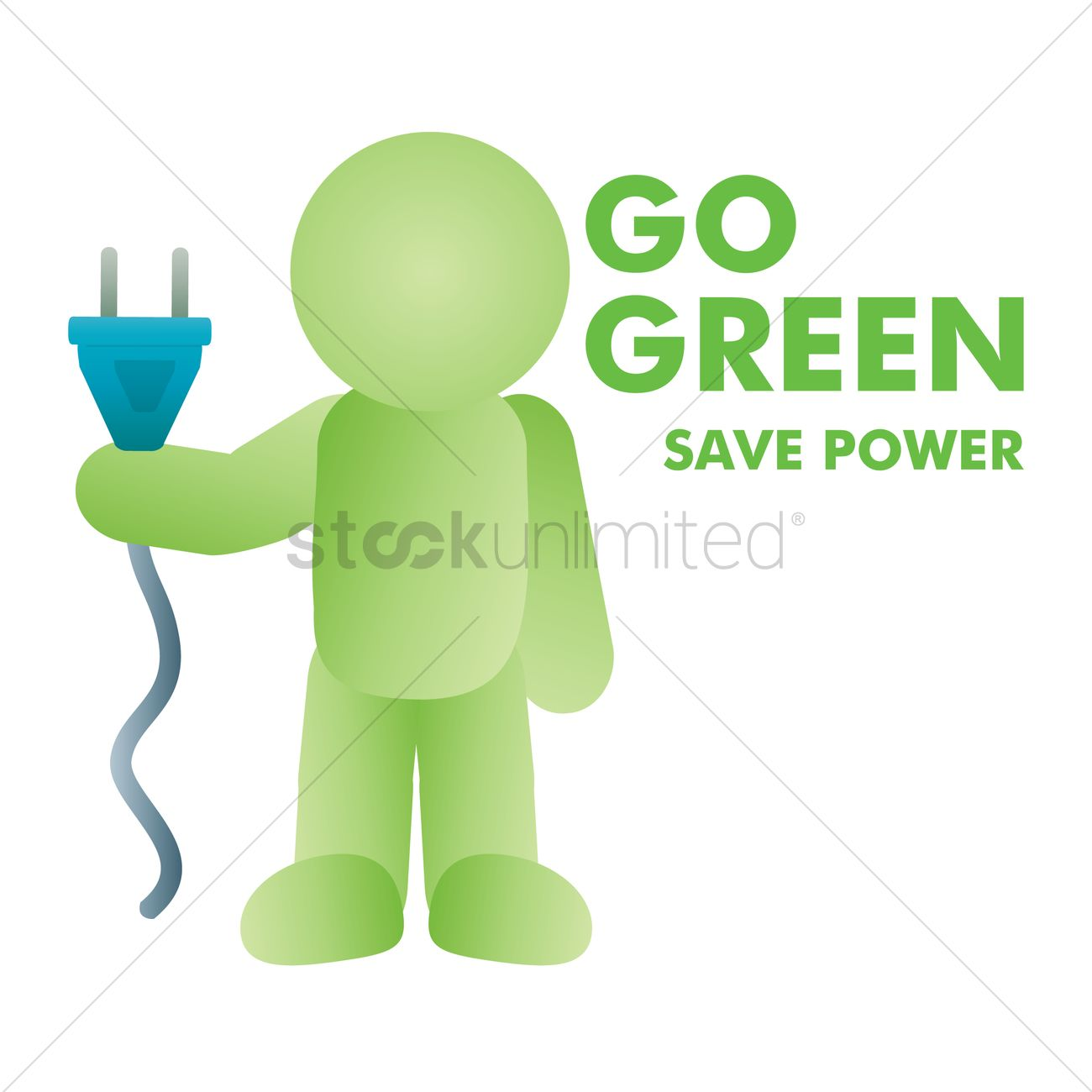 Save Power Vector Graphic