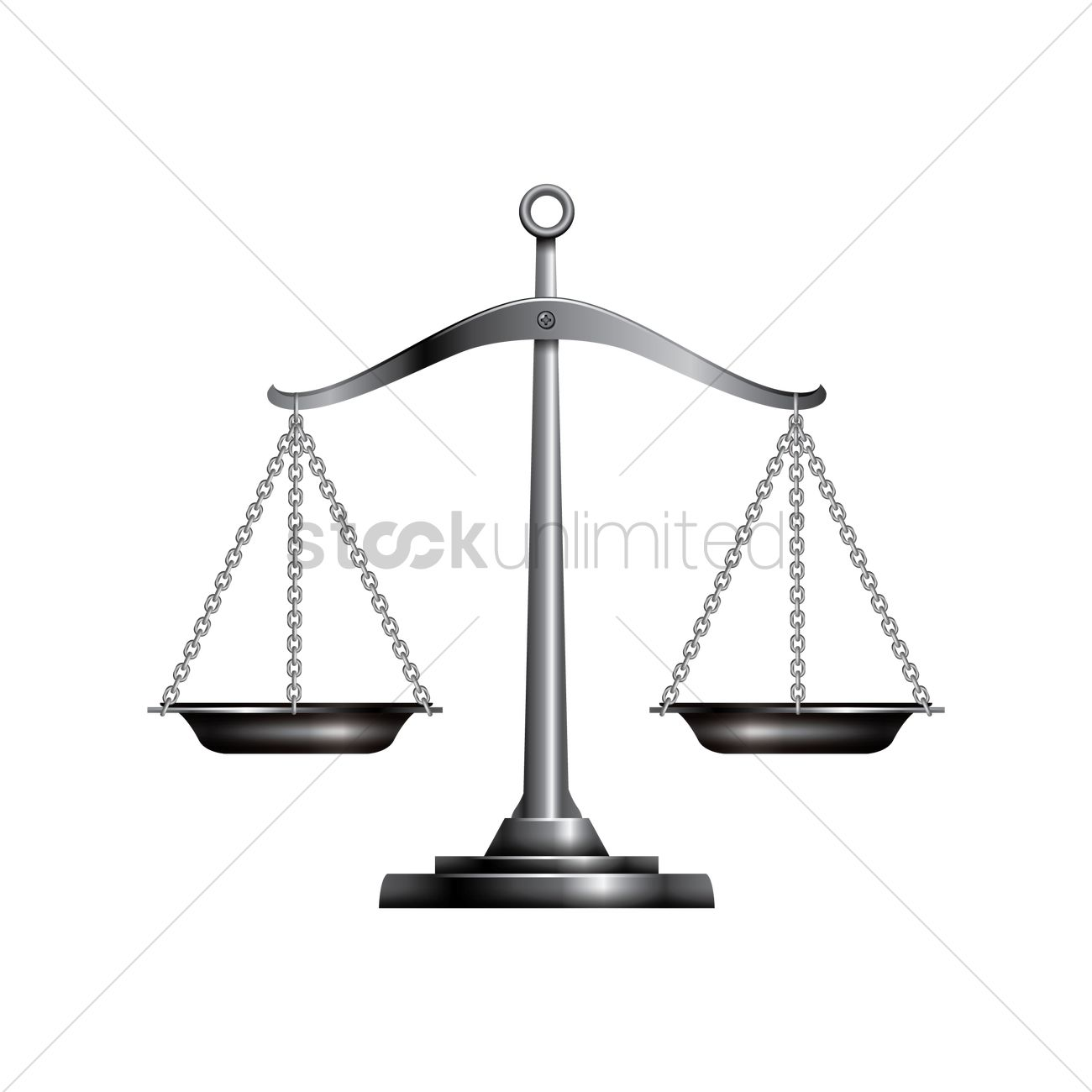 Scales Of Justice Vector Image 1968099 Stockunlimited