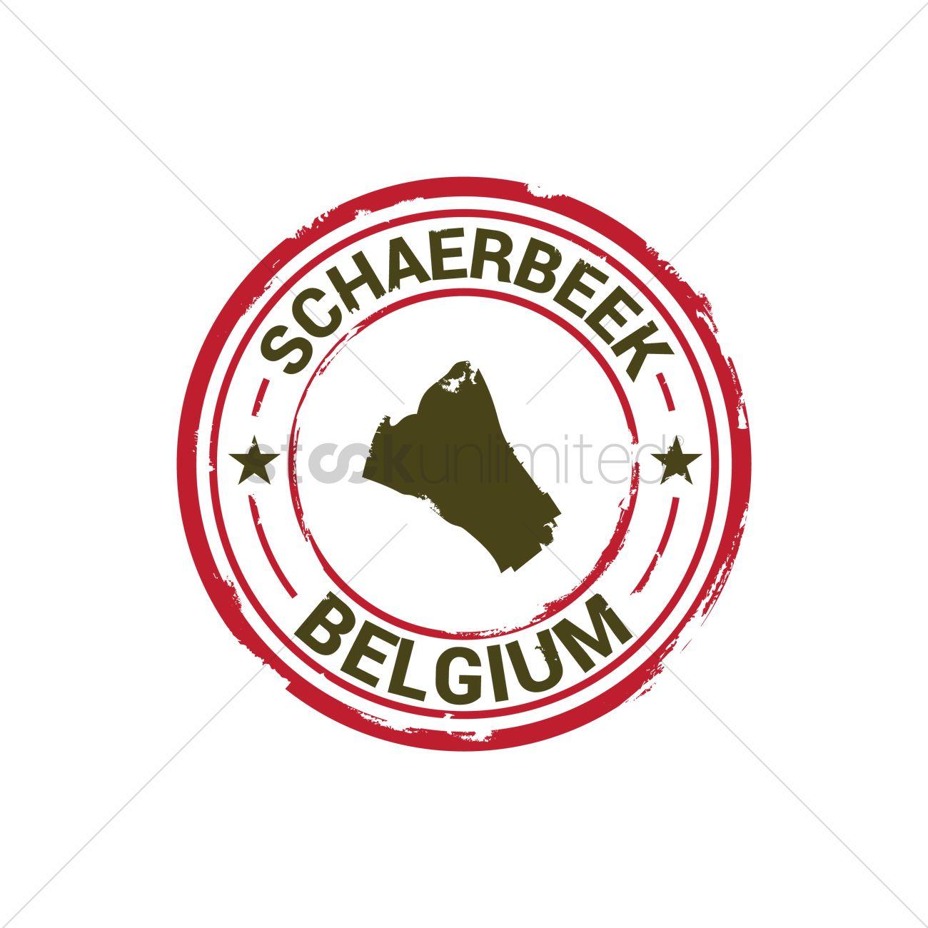 Schaerbeek map stamp Vector Image 1581659 StockUnlimited