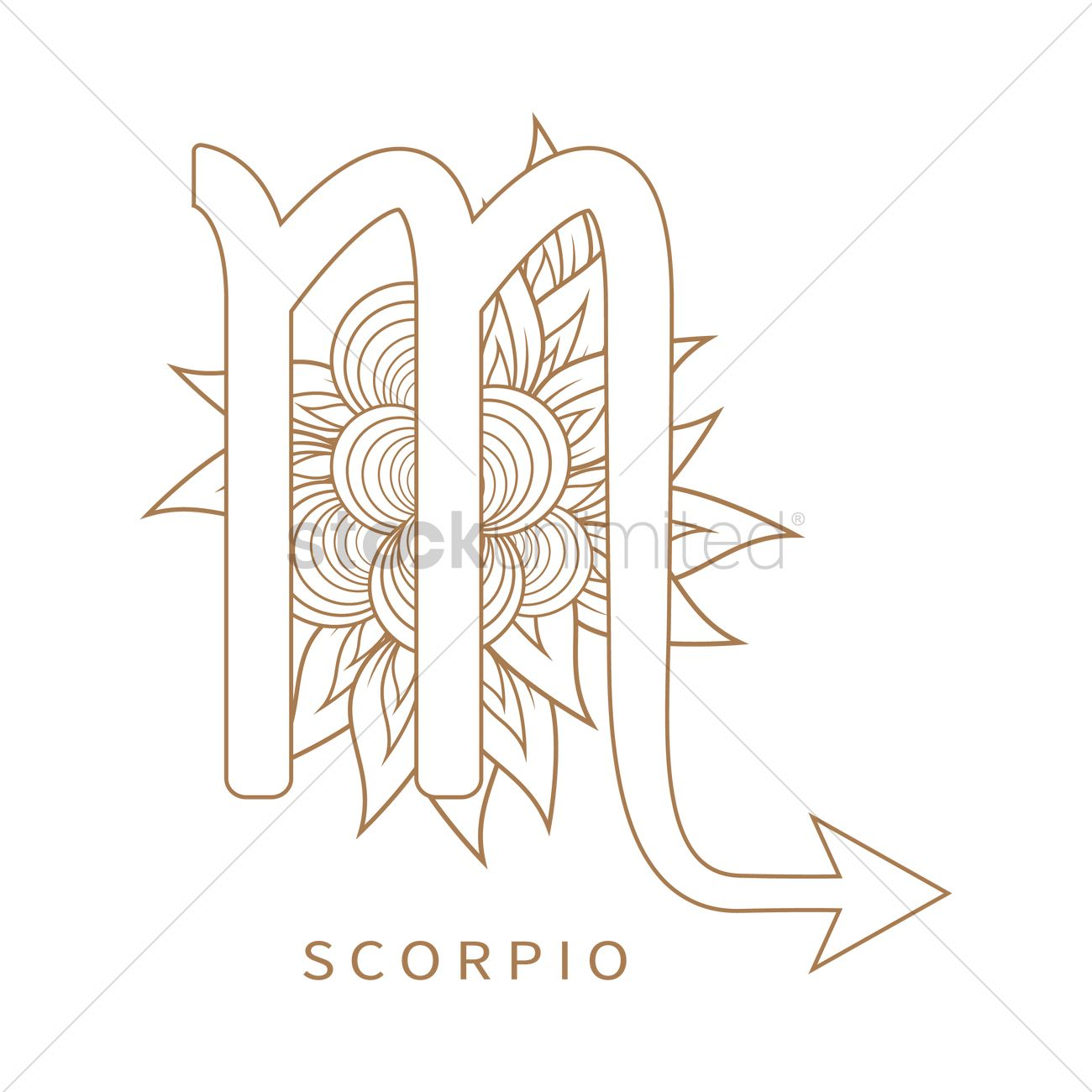 Scorpio Symbol Vector Image 1964279 Stockunlimited