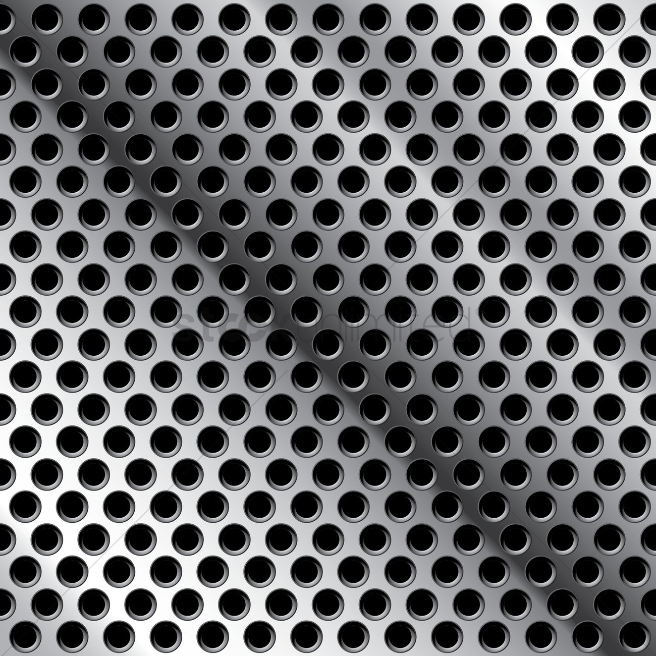Seamless Metal Mesh Background Vector Graphic