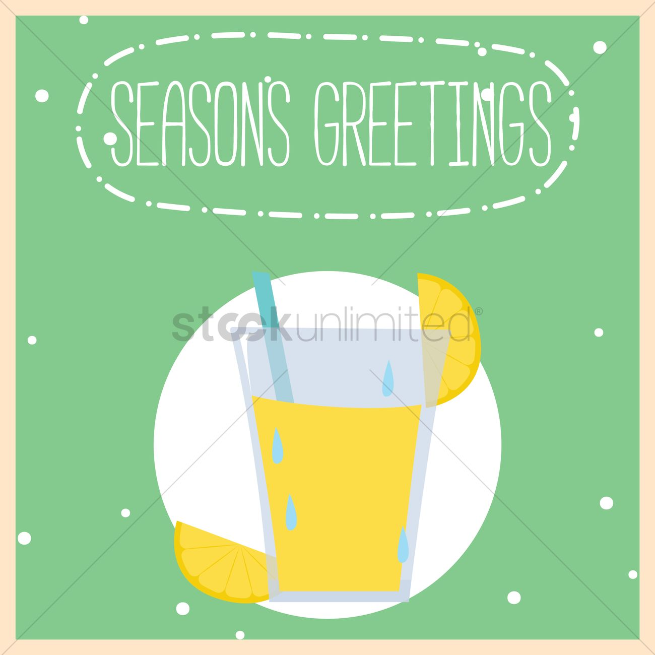 Seasons Greeting Message Vector Image 1827279 Stockunlimited