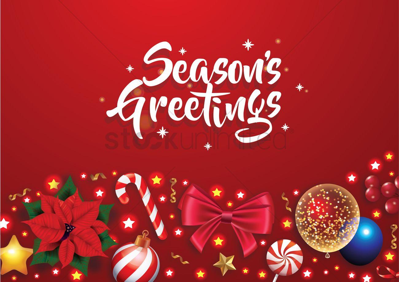 seasons greetings vector image  2111491  stockunlimited