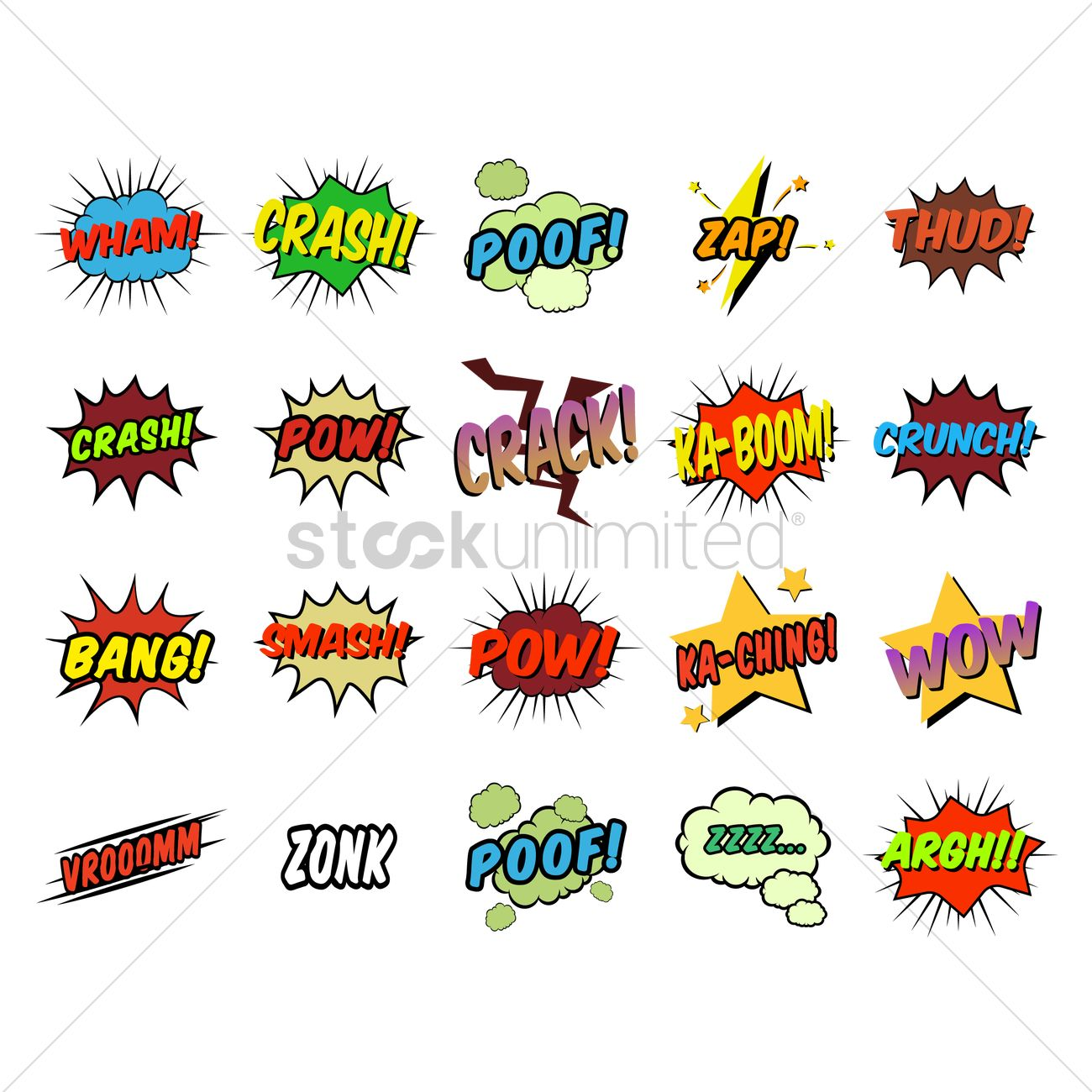 Set of comic speech bubbles Vector Image - 1711007   StockUnlimited