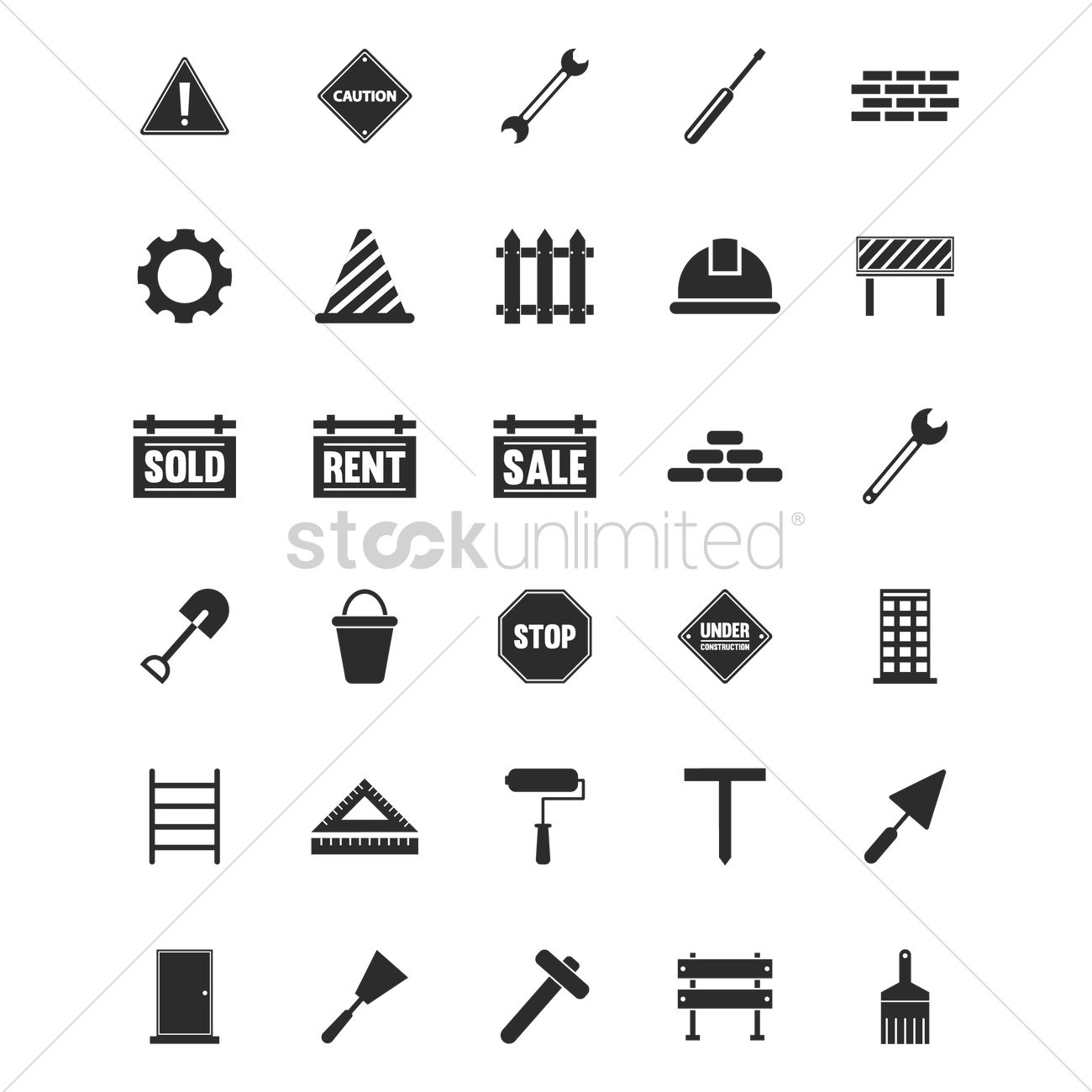 Set of construction icons vector image 1545823 stockunlimited set of construction icons vector graphic buycottarizona Image collections