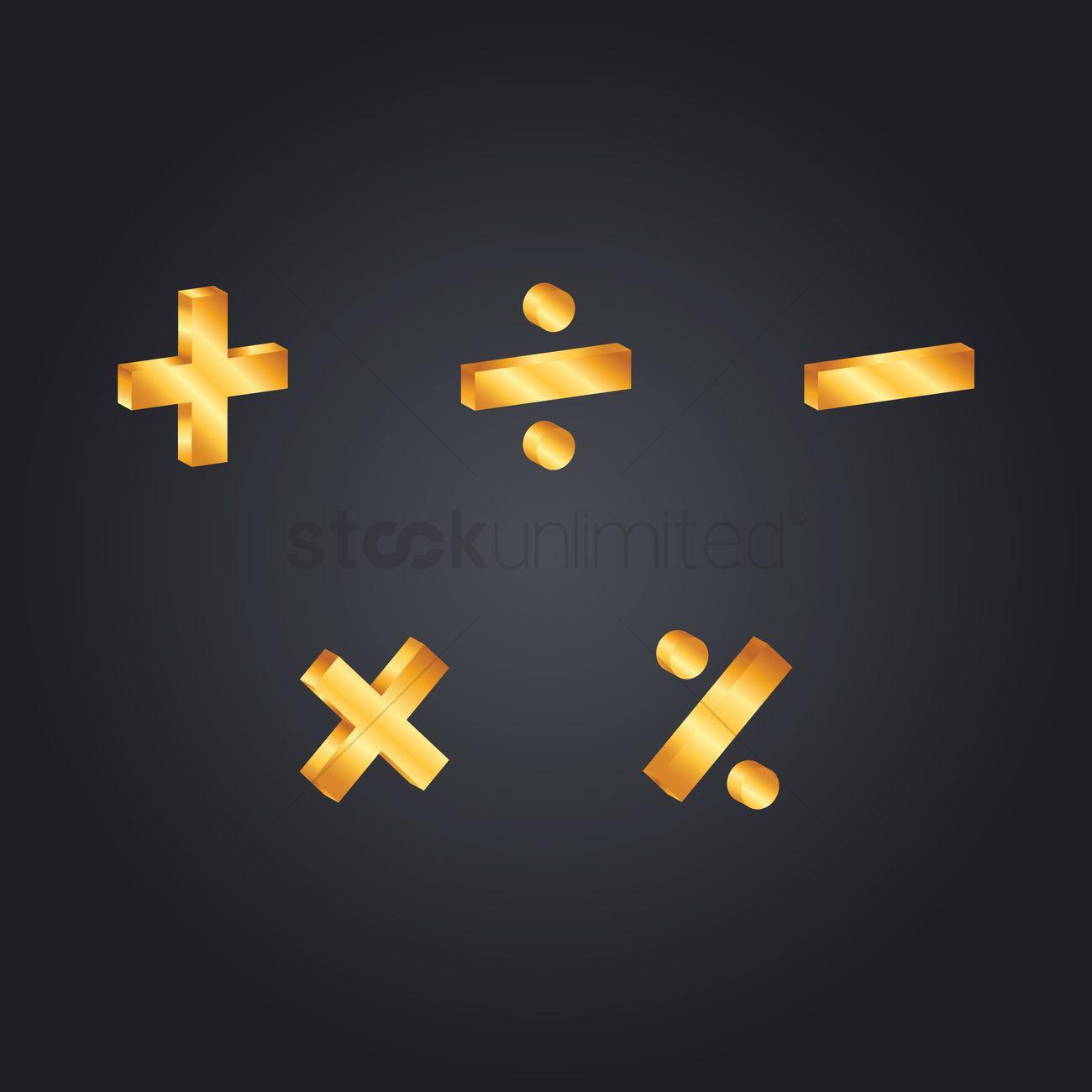 Set Of Mathematical Symbols Vector Image 1634543 Stockunlimited