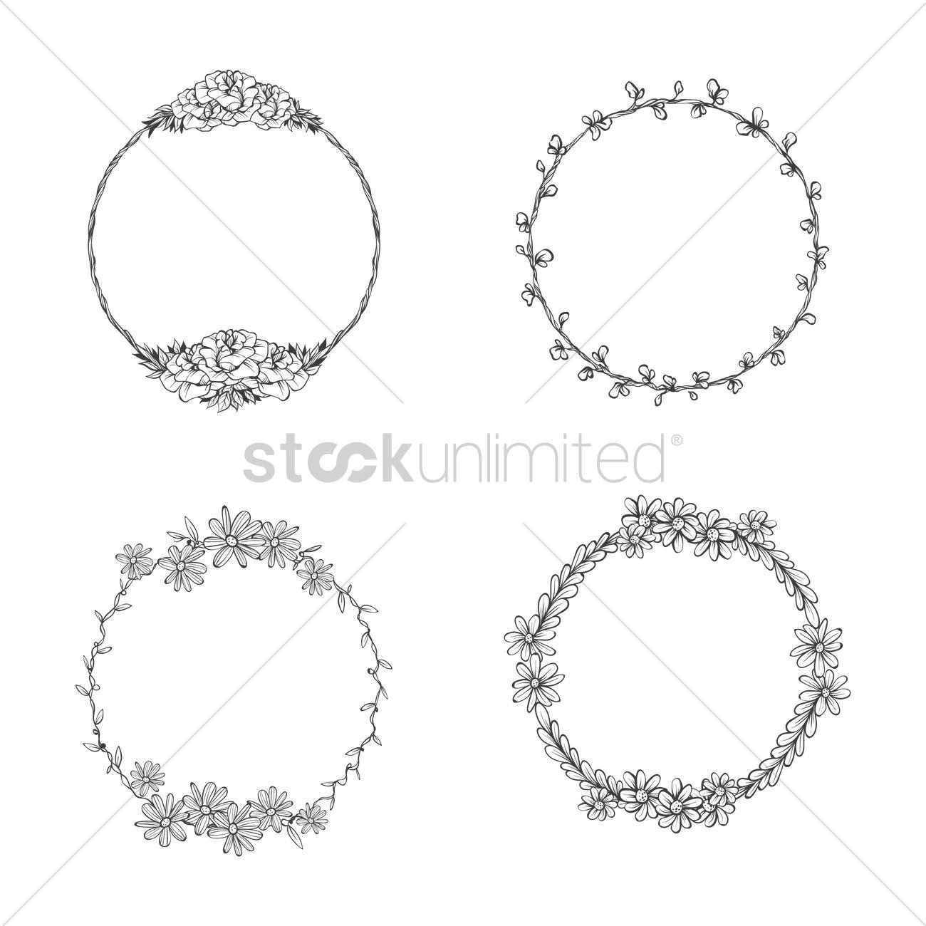Set of ornamental frames Vector Image - 1990563 | StockUnlimited