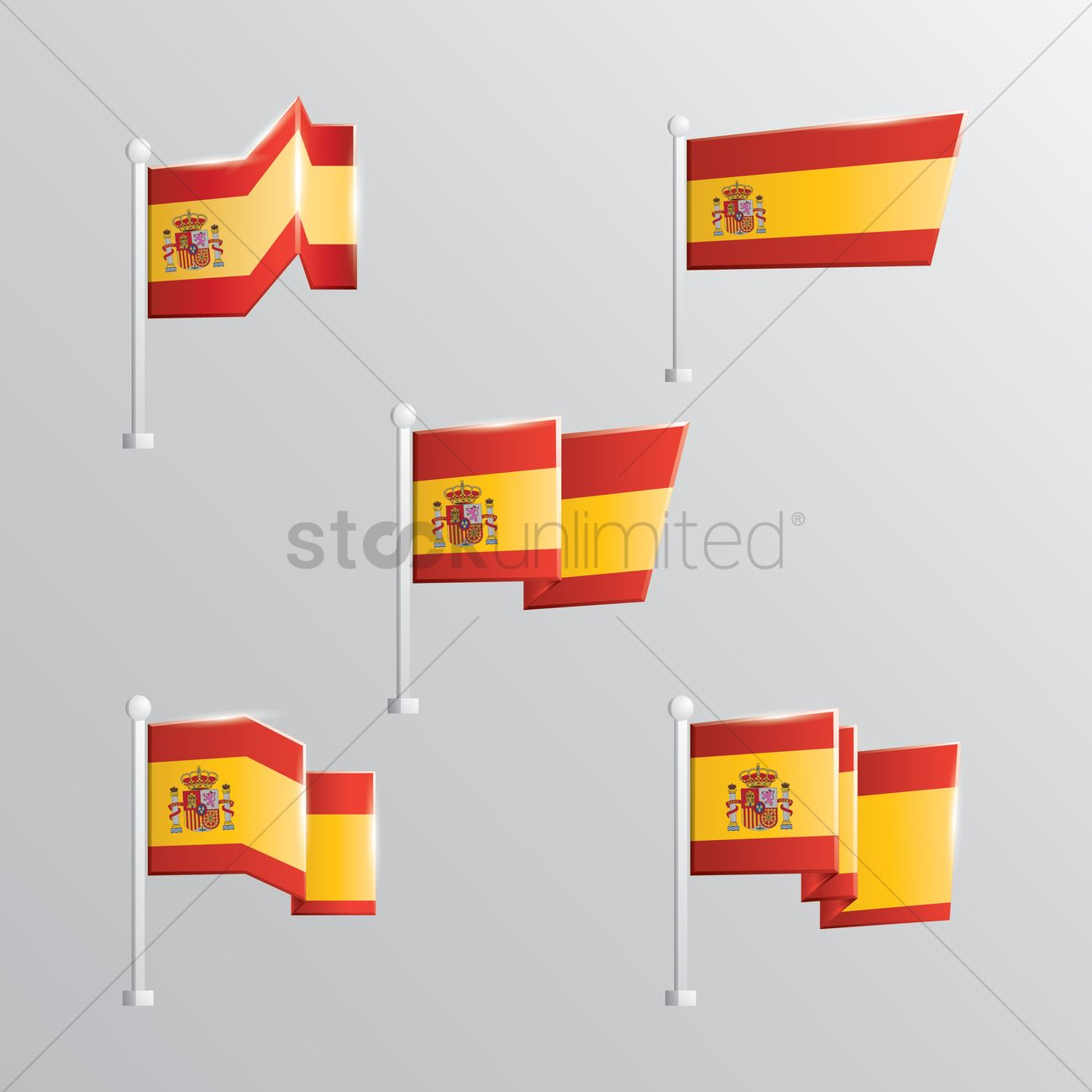 set of spain flags vector image 1595835 stockunlimited
