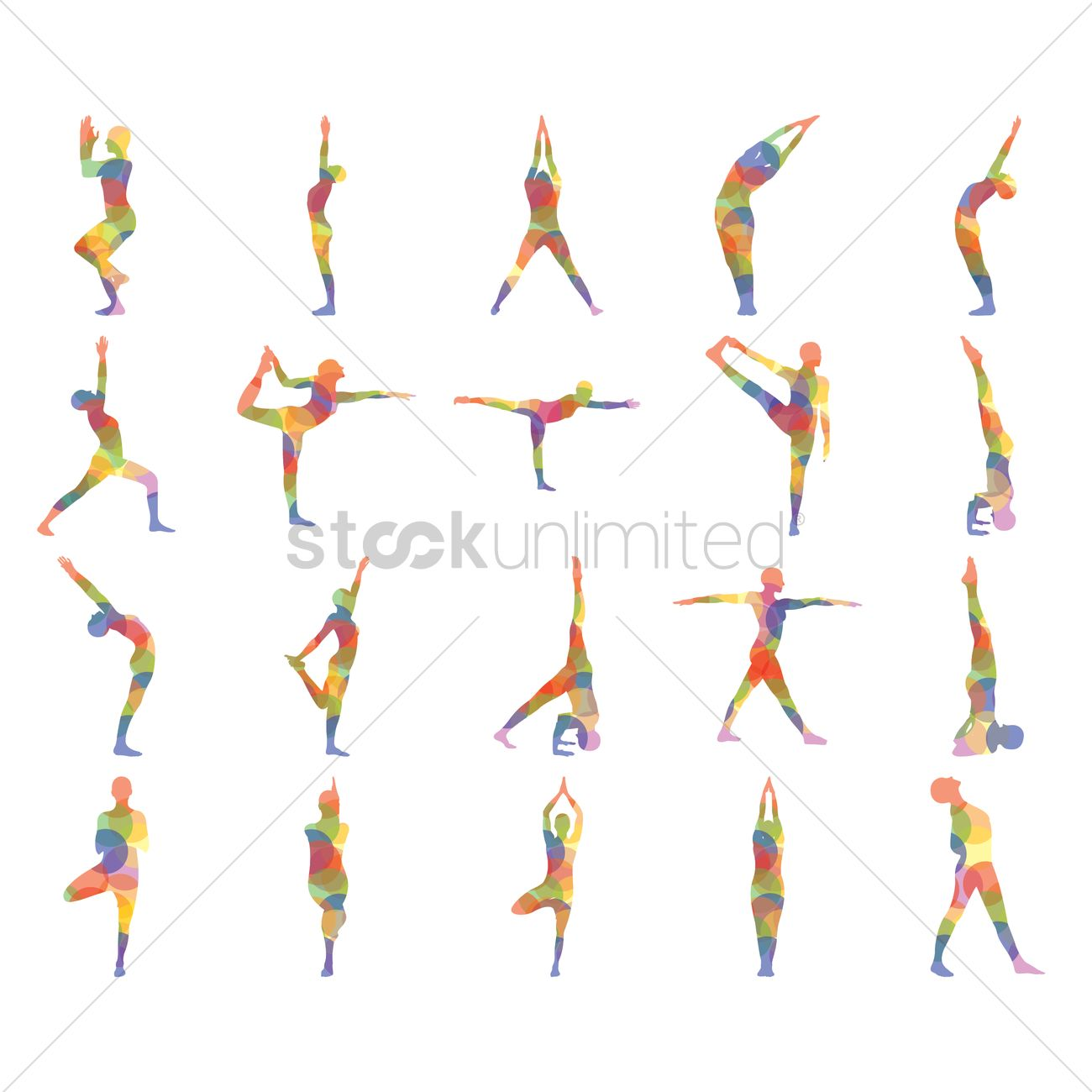 8d548279360 Set of yoga icons Vector Image - 1442007 | StockUnlimited