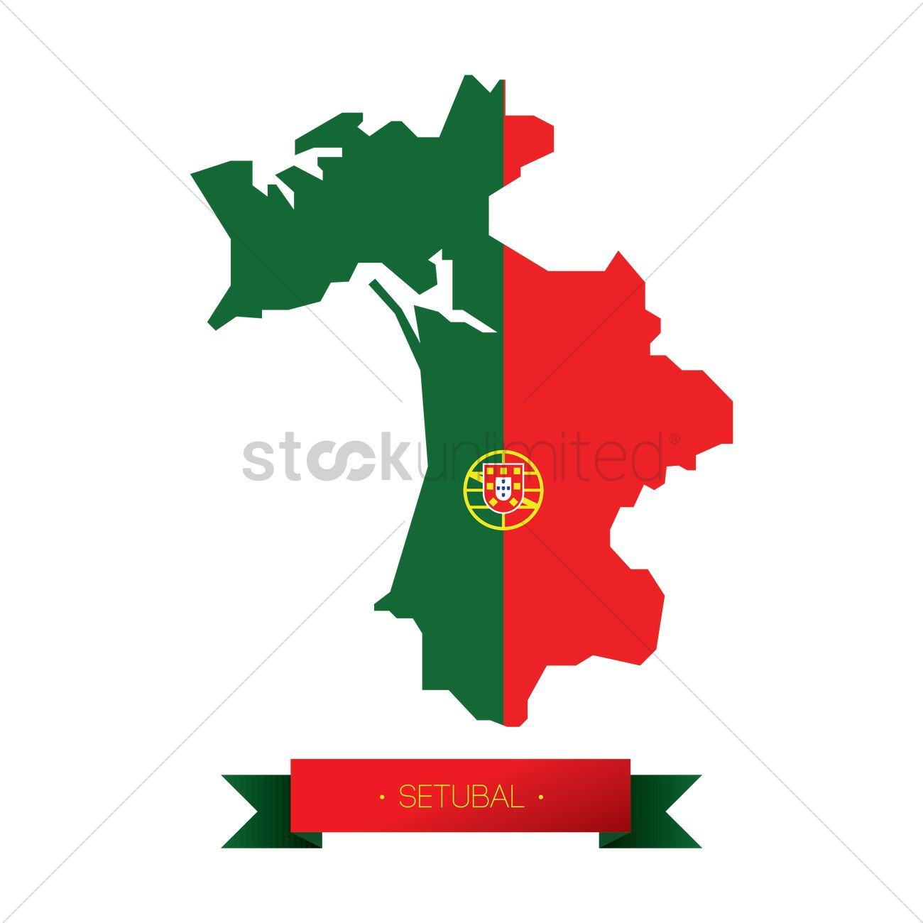 Setubal map Vector Image 1582383 StockUnlimited
