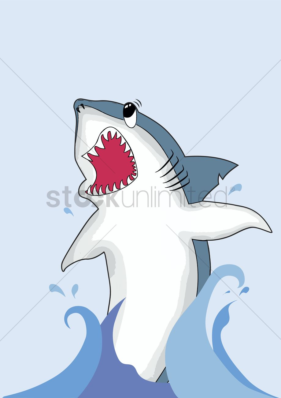 Shark jumping out of the water Vector Image - 1235527