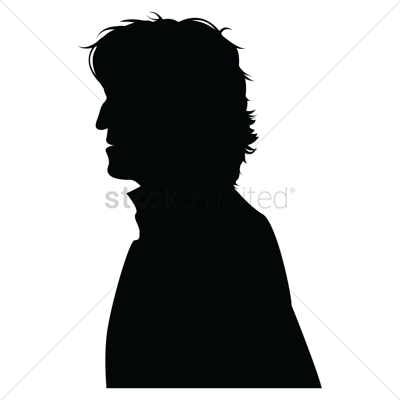 side view of a silhouette man vector image 1332803 stockunlimited