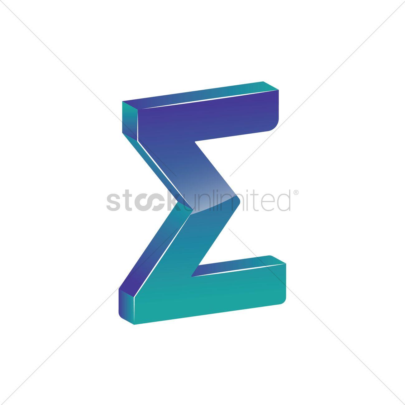 Sigma Symbol Vector Image 1866475 Stockunlimited