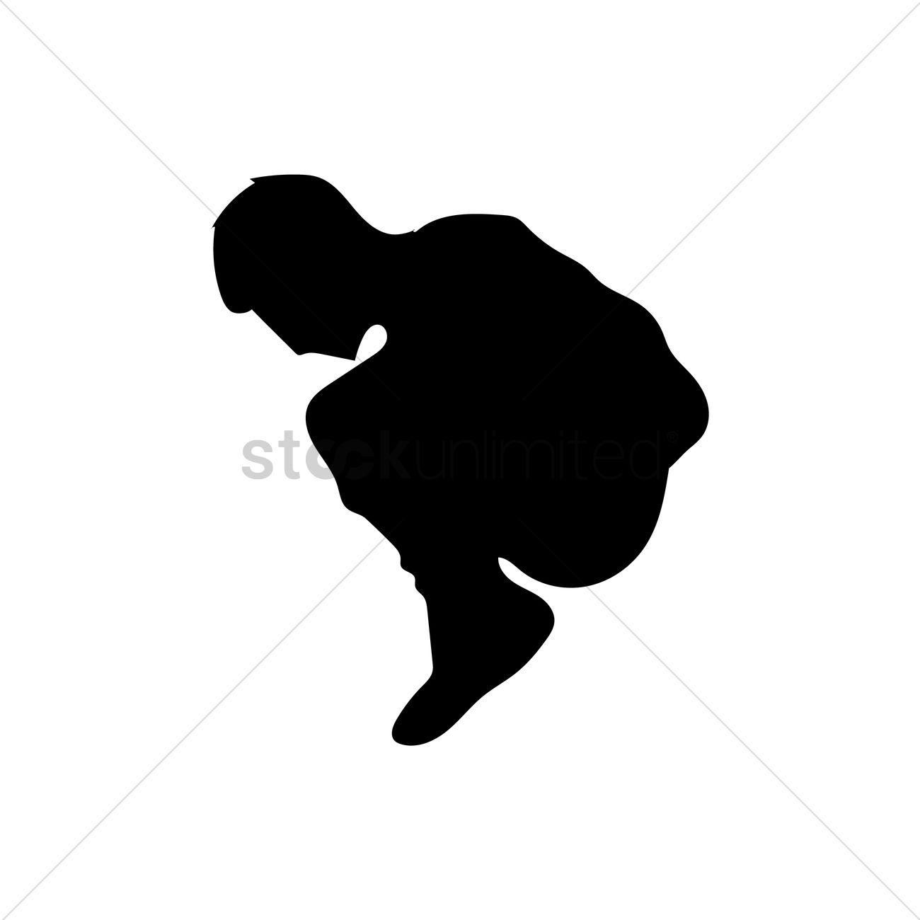 Silhouette Of A Man Sitting Vector Image - 1477703 ...