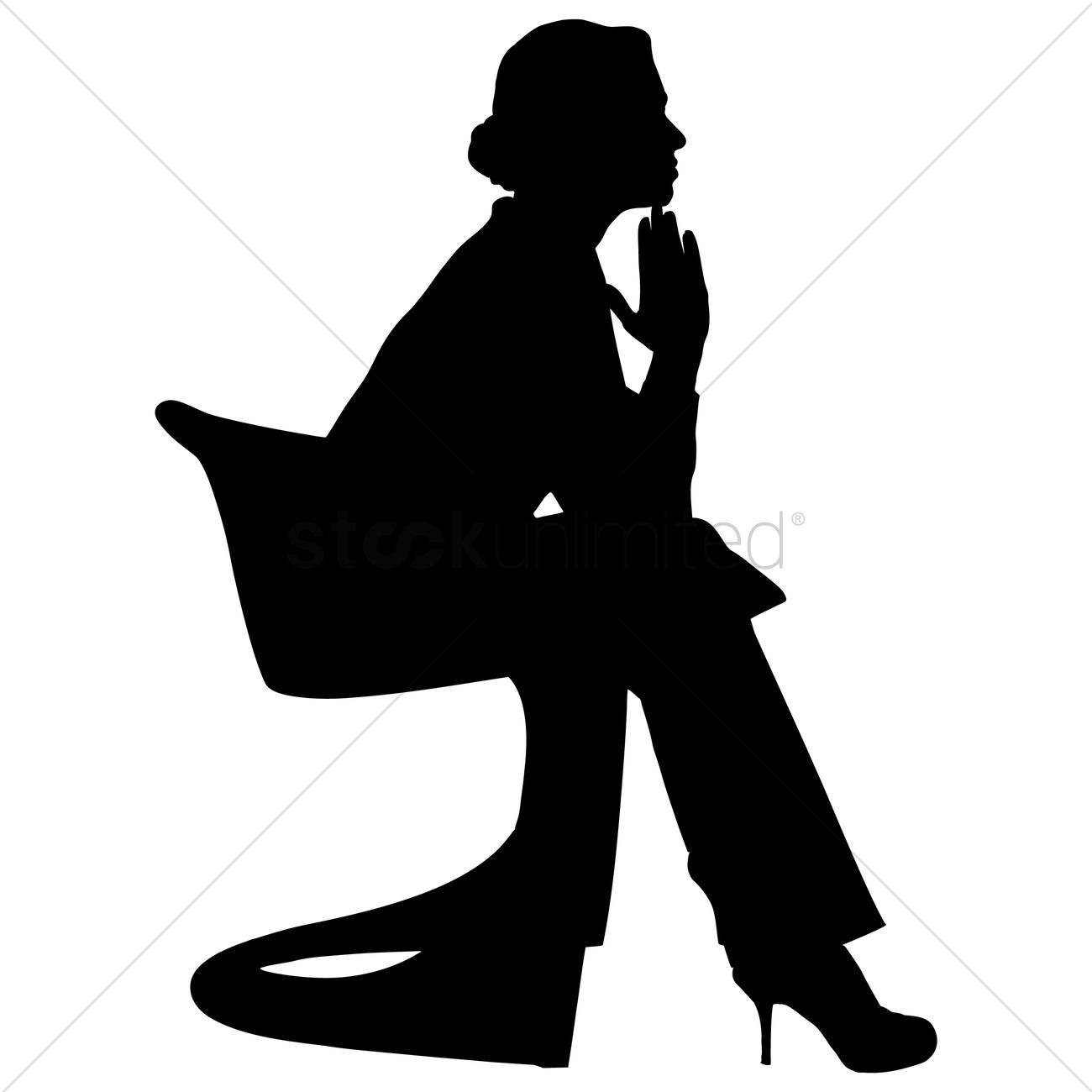 Free Silhouette of a woman Vector Image - 1253635 | StockUnlimited for Person Thinking Silhouette  166kxo