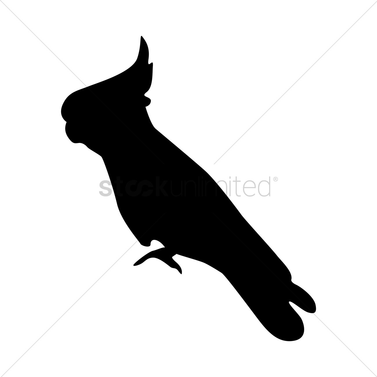 Silhouette Of Cockatoo Vector Image 1439011 Stockunlimited