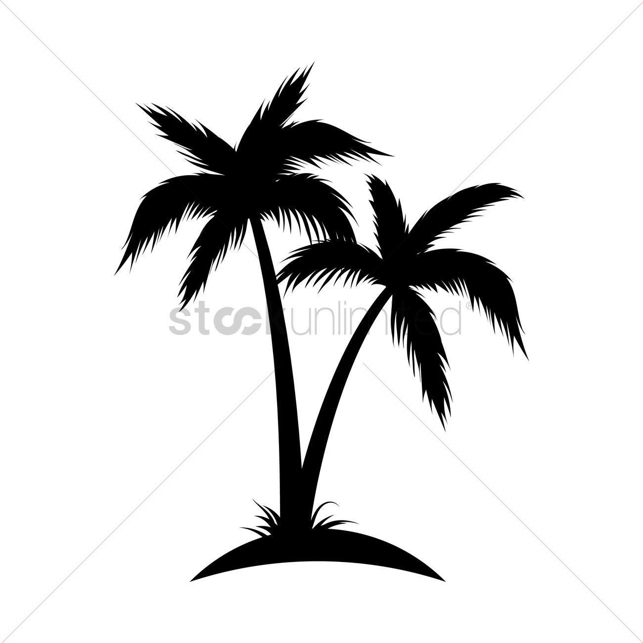 Silhouette Of Coconut Tree Vector Image 1902987