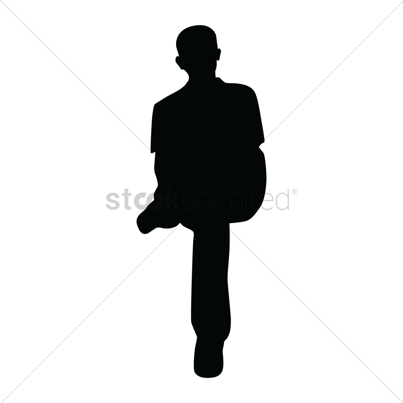 Silhouette Of Sitting Man Vector Image - 1447159 ...