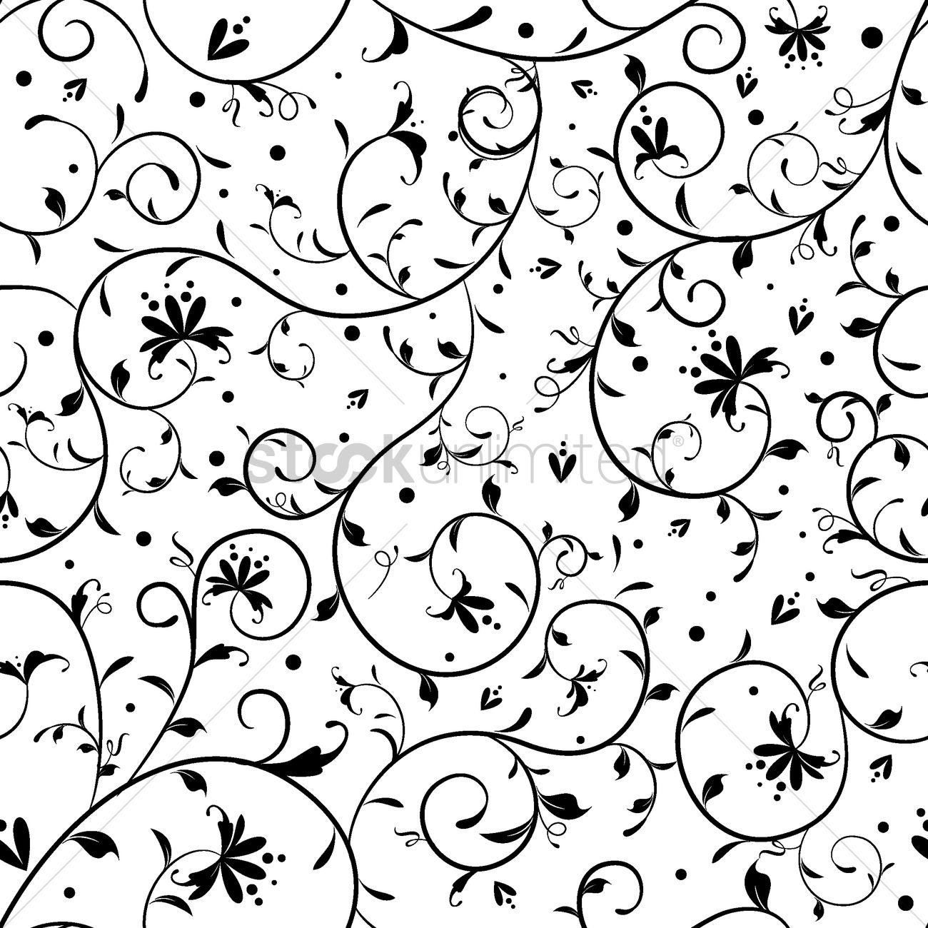 Simple floral pattern design Vector Image - 1506075 ...