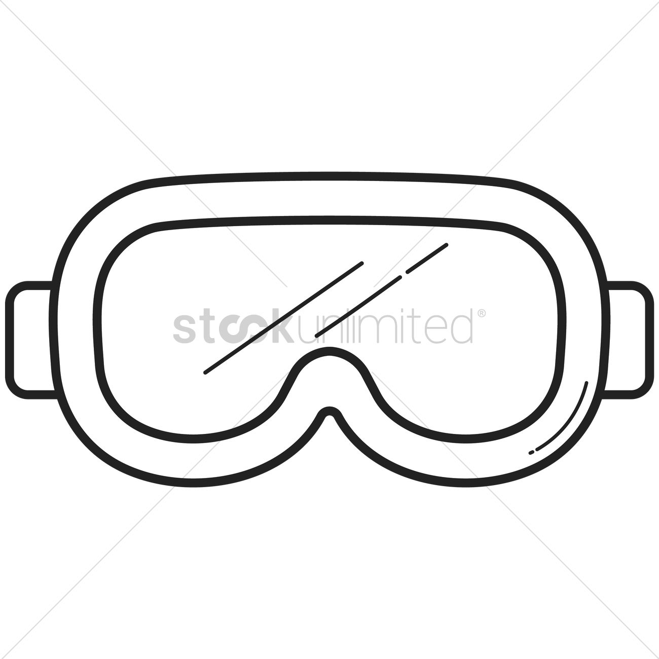 snorkeling mask vector image 1697531 stockunlimited