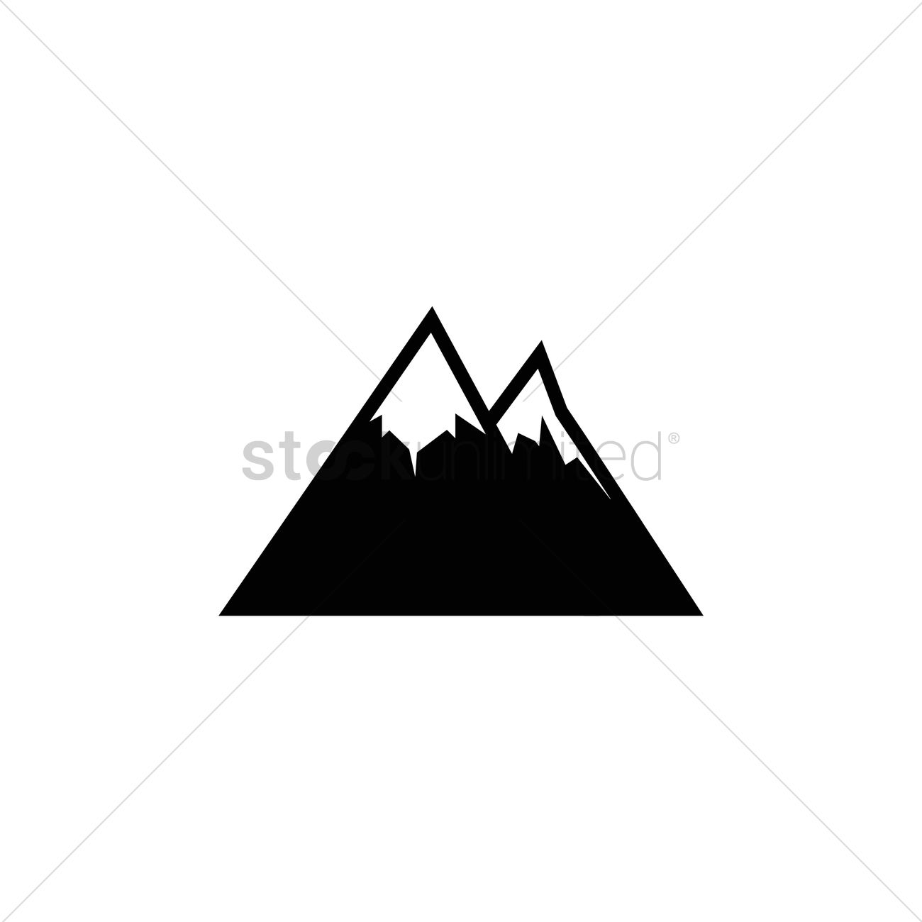 snow capped mountains how to draw