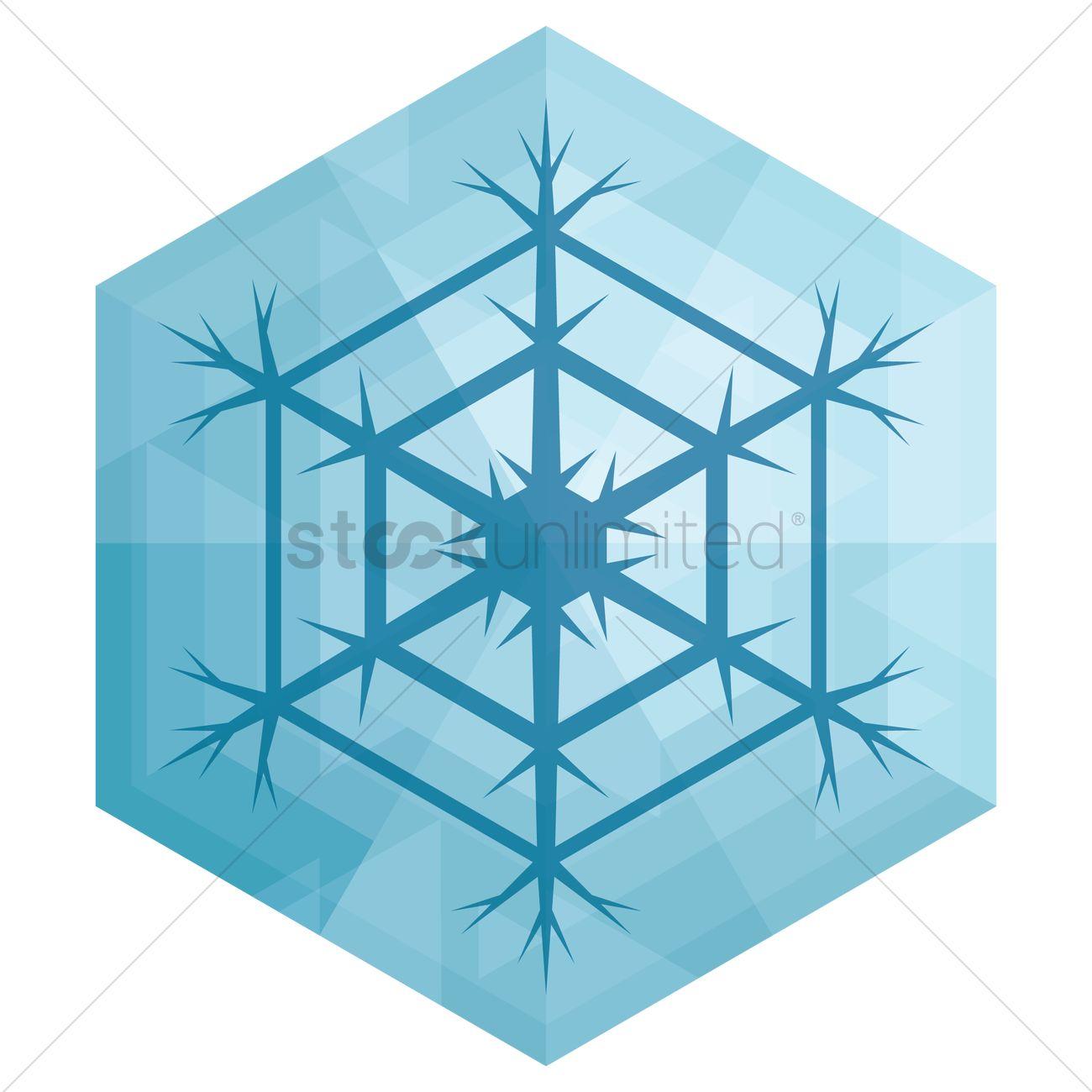 Snowflake Symbol Vector Image 1399959 Stockunlimited