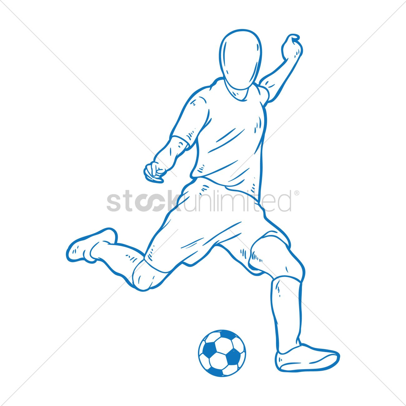 It's just a graphic of Unforgettable Drawing Soccer Players