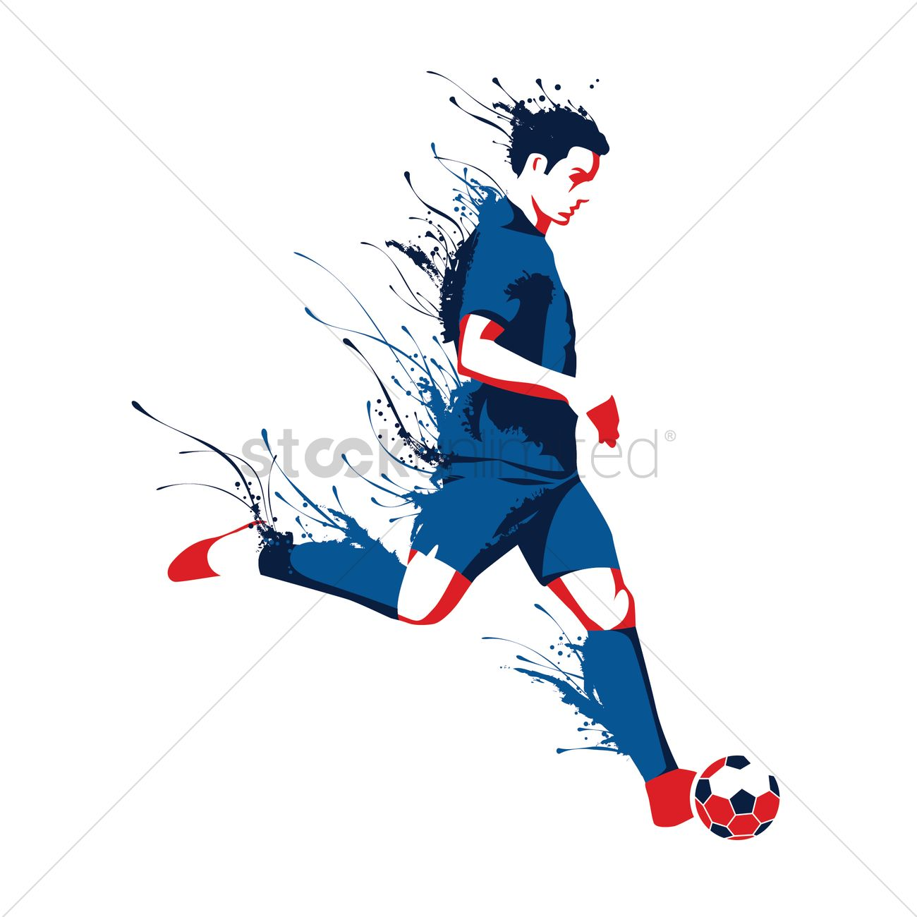 Soccer Player Vector Image 1818071 Stockunlimited