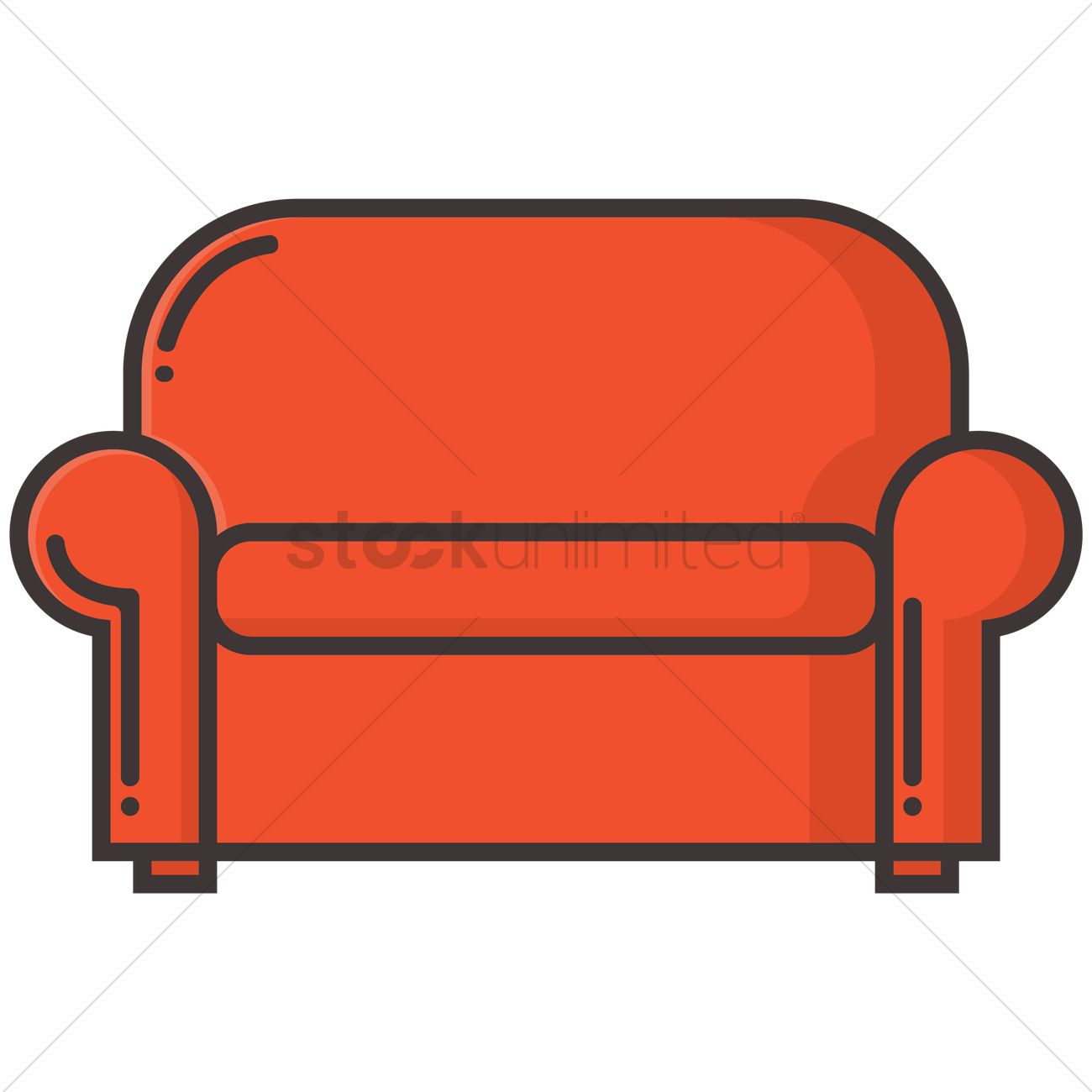 Sofa Vector Image 1873543 Stockunlimited