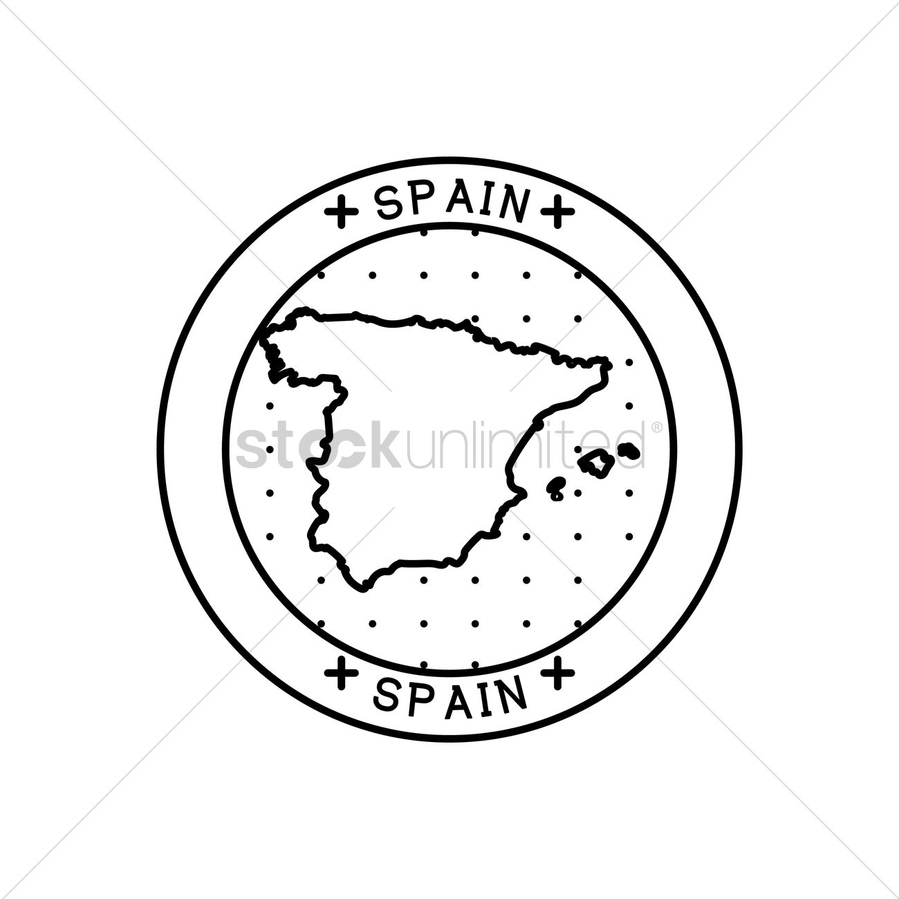 Map Of Spain To Label.Spain Map Label Vector Image 1564775 Stockunlimited