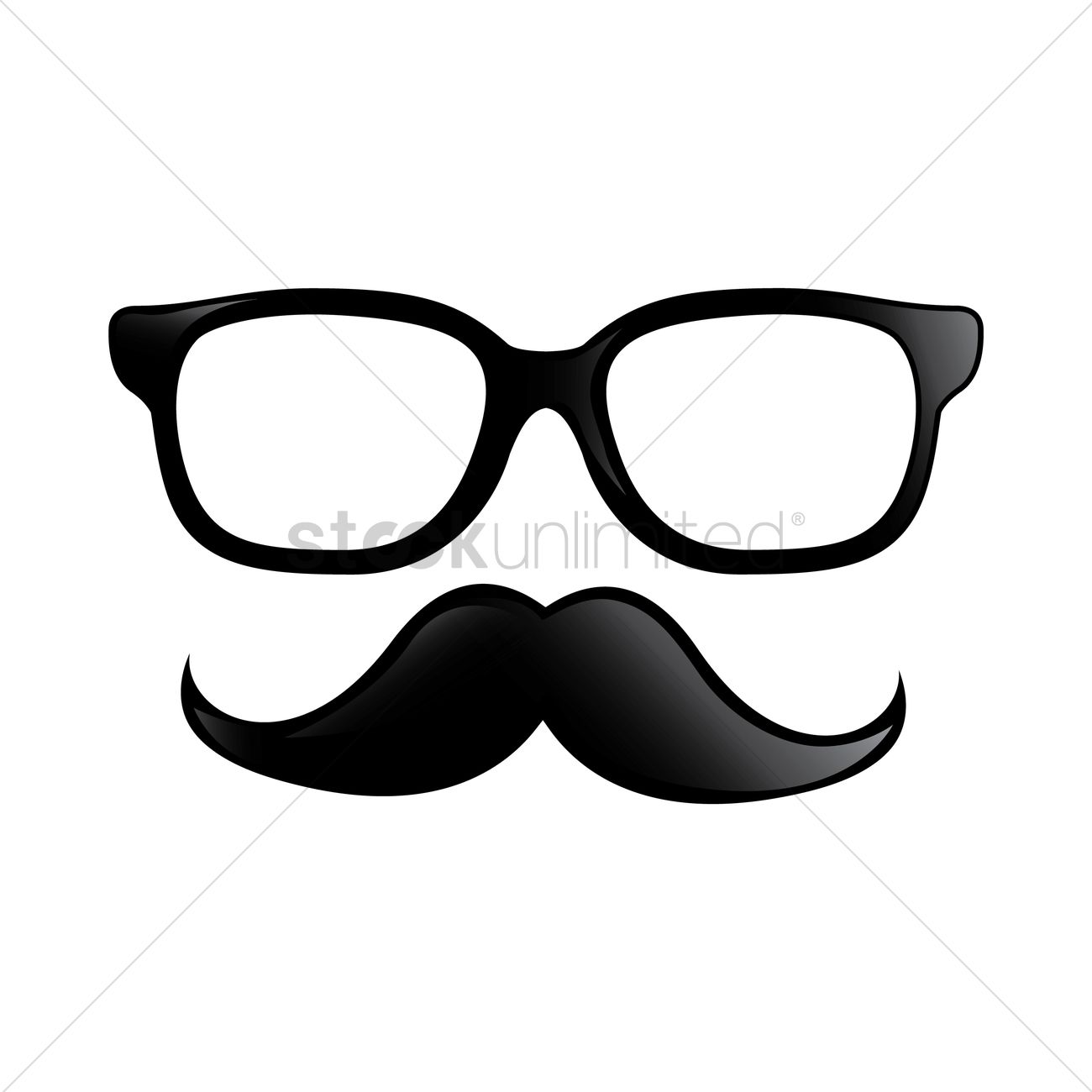 spectacles and mustache design vector image 1969835 stockunlimited