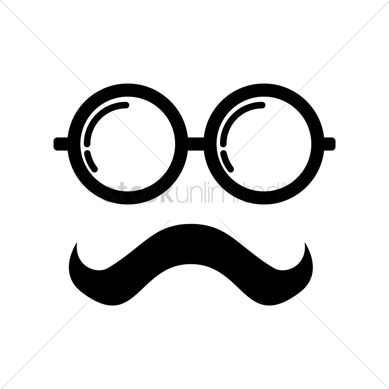 spectacles and mustache design vector image 2017003 stockunlimitedspectacles and mustache design vector graphic