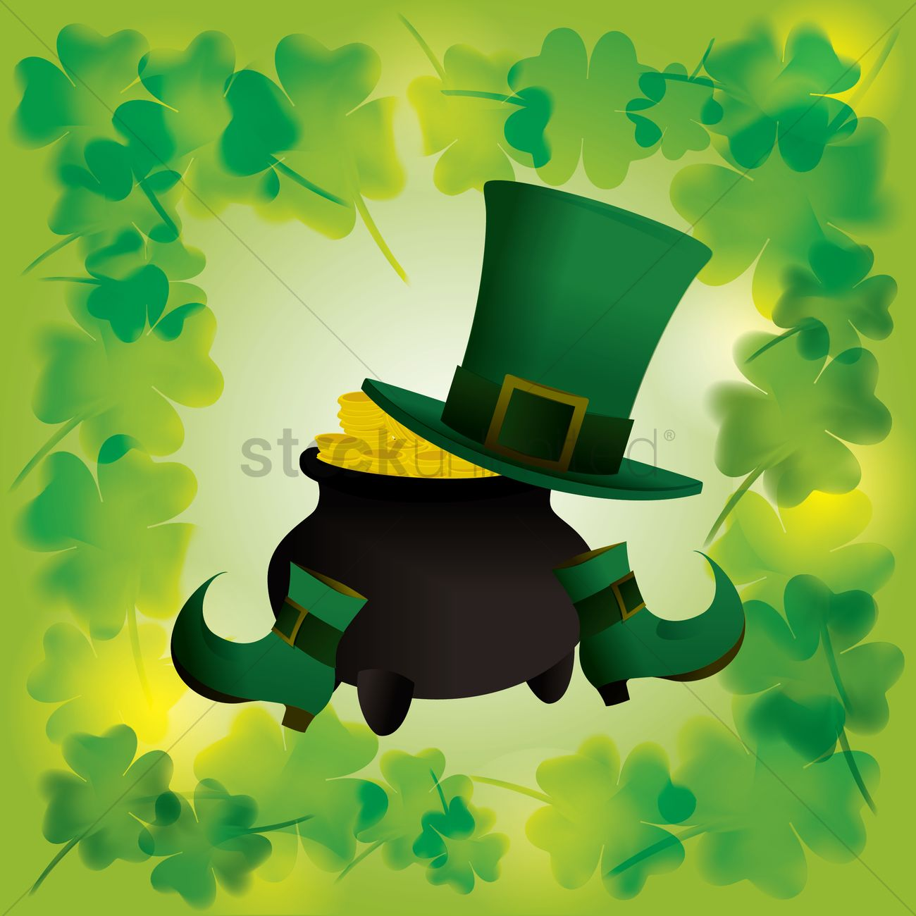 St Patrick S Day Wallpaper Vector Image 1481959