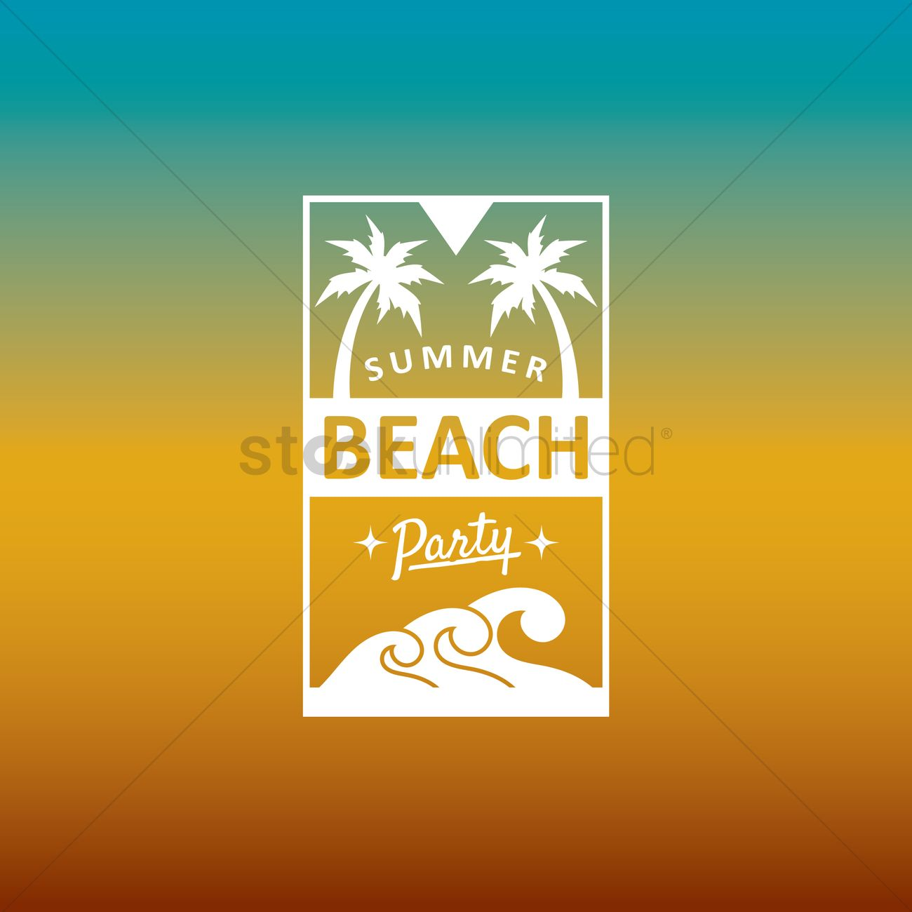 Summer Beach Party Design Vector Graphic