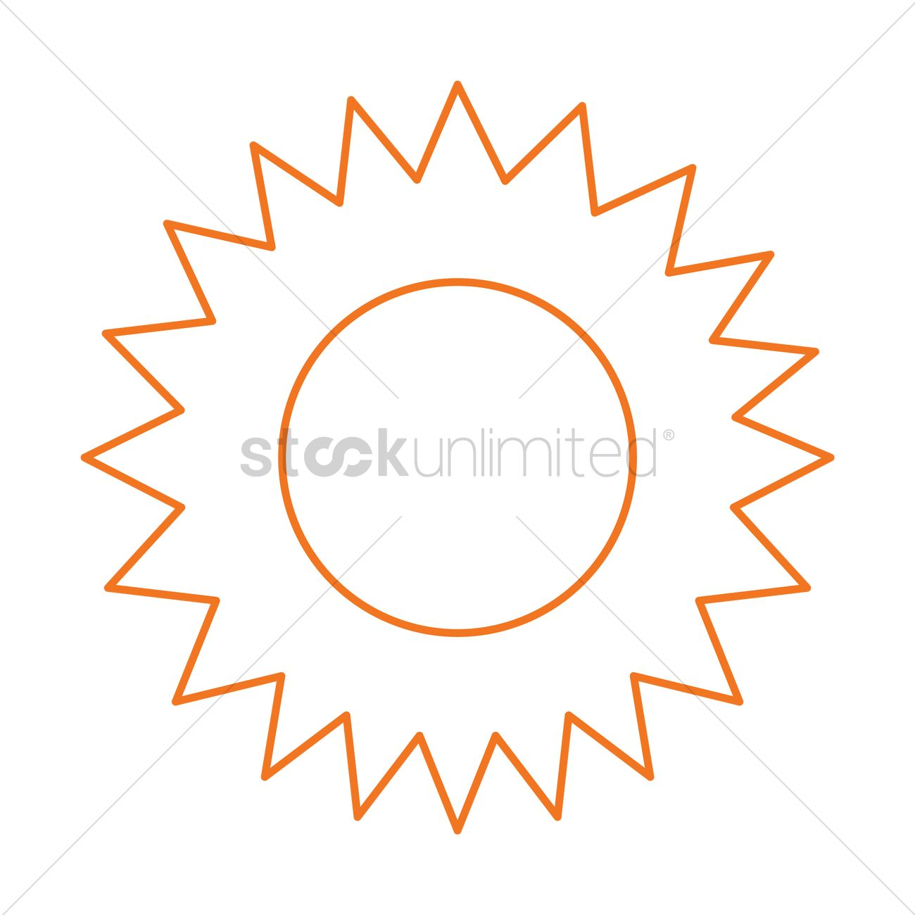 Sun symbol vector image 1340395 stockunlimited sun symbol vector graphic buycottarizona Images