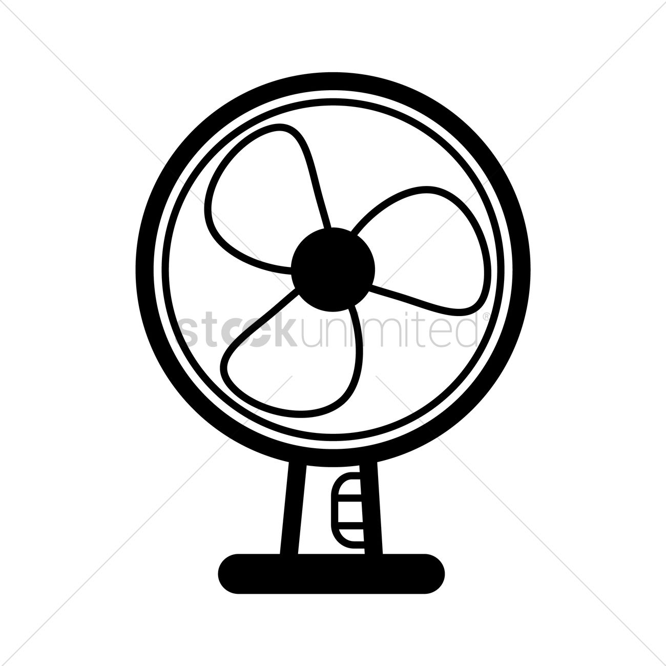 A Sketch Of A Electric Fan : Table fan vector image stockunlimited