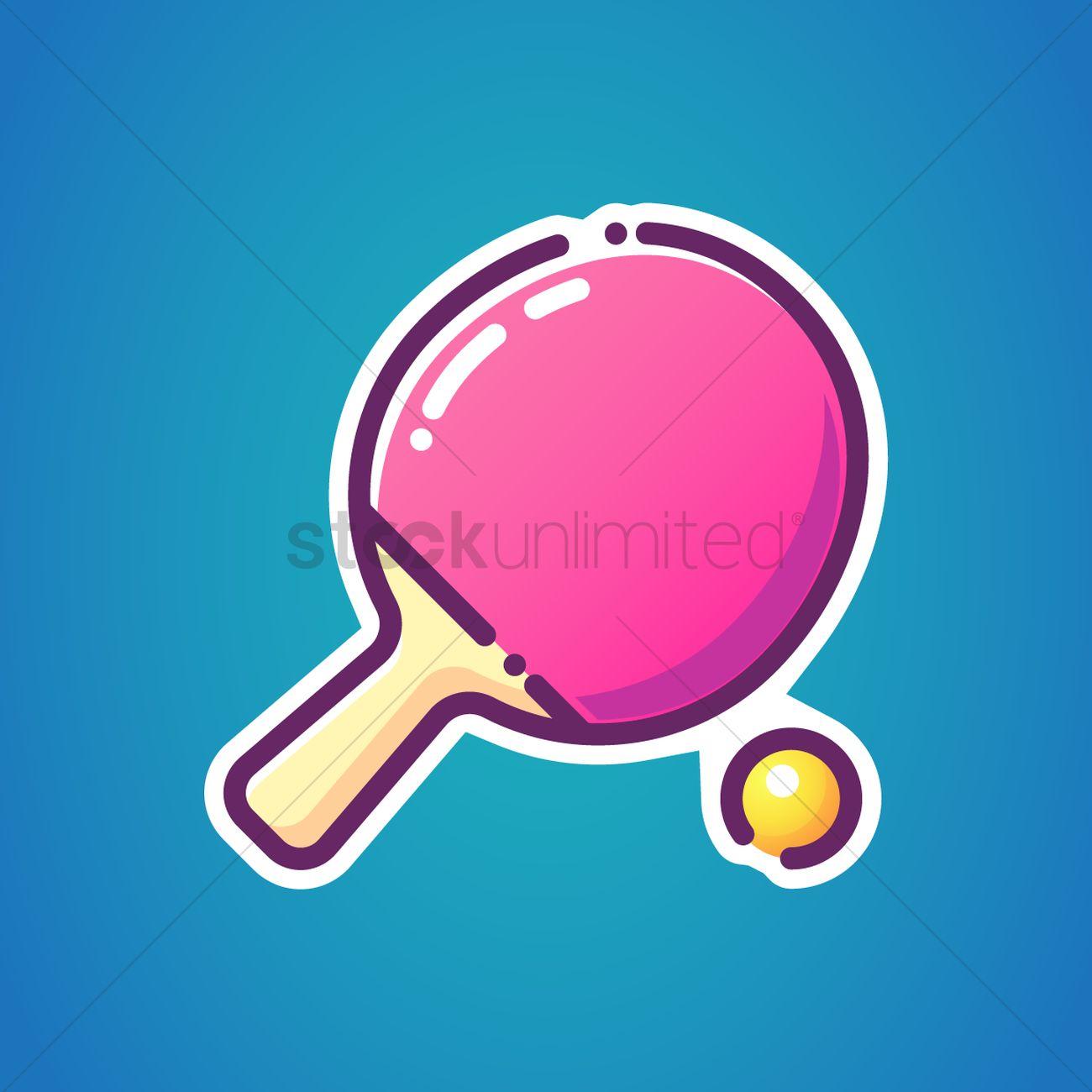 Table tennis bat and ball Vector Image - 2026939