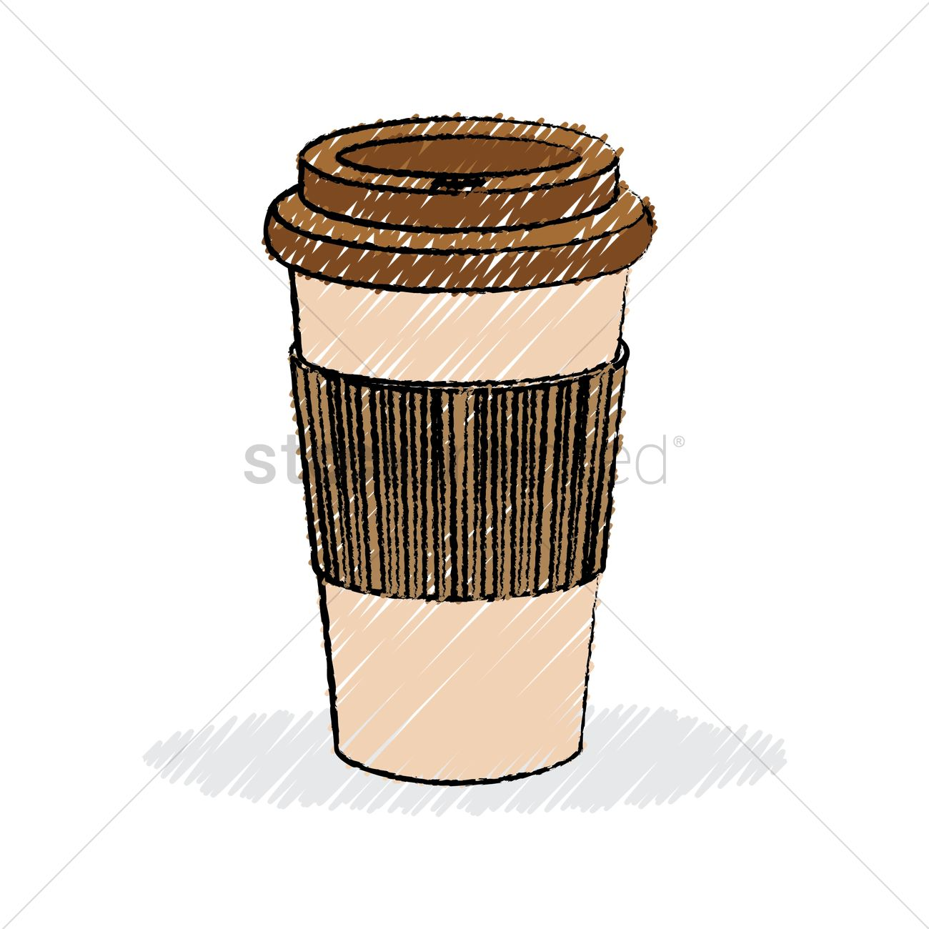 Coffee cup sketch - Takeaway Coffee Cup Vector Graphic