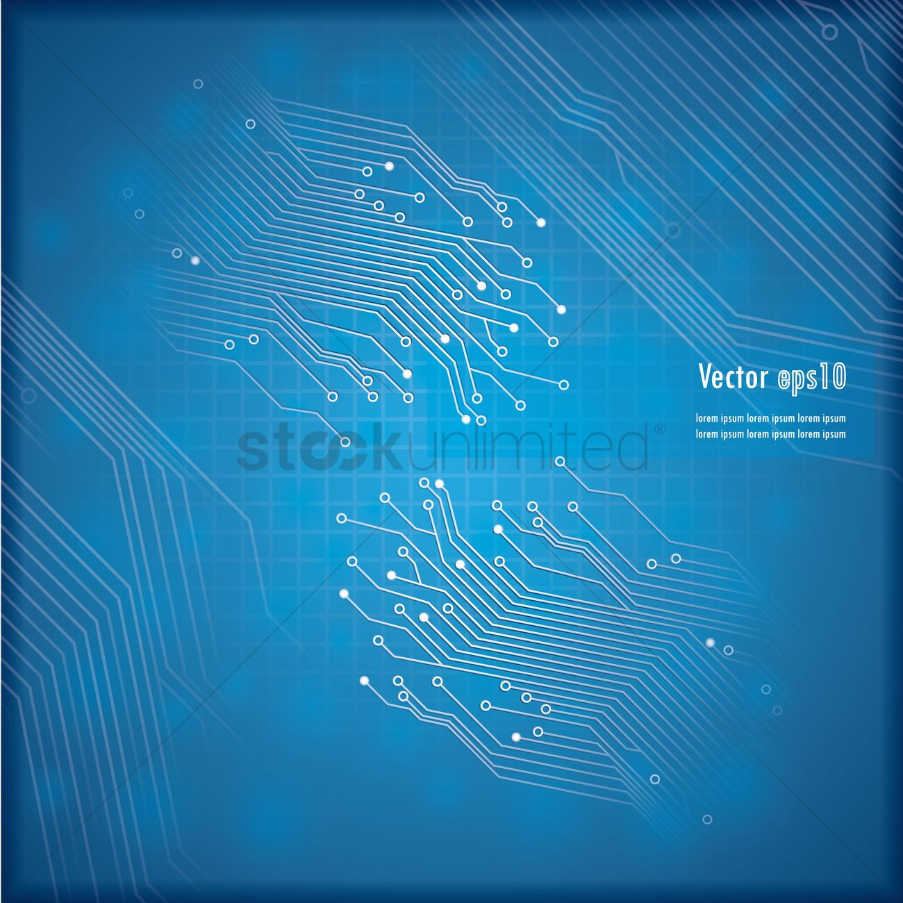 Technical Circuit Board Background Vector Image 1789151 Graphic