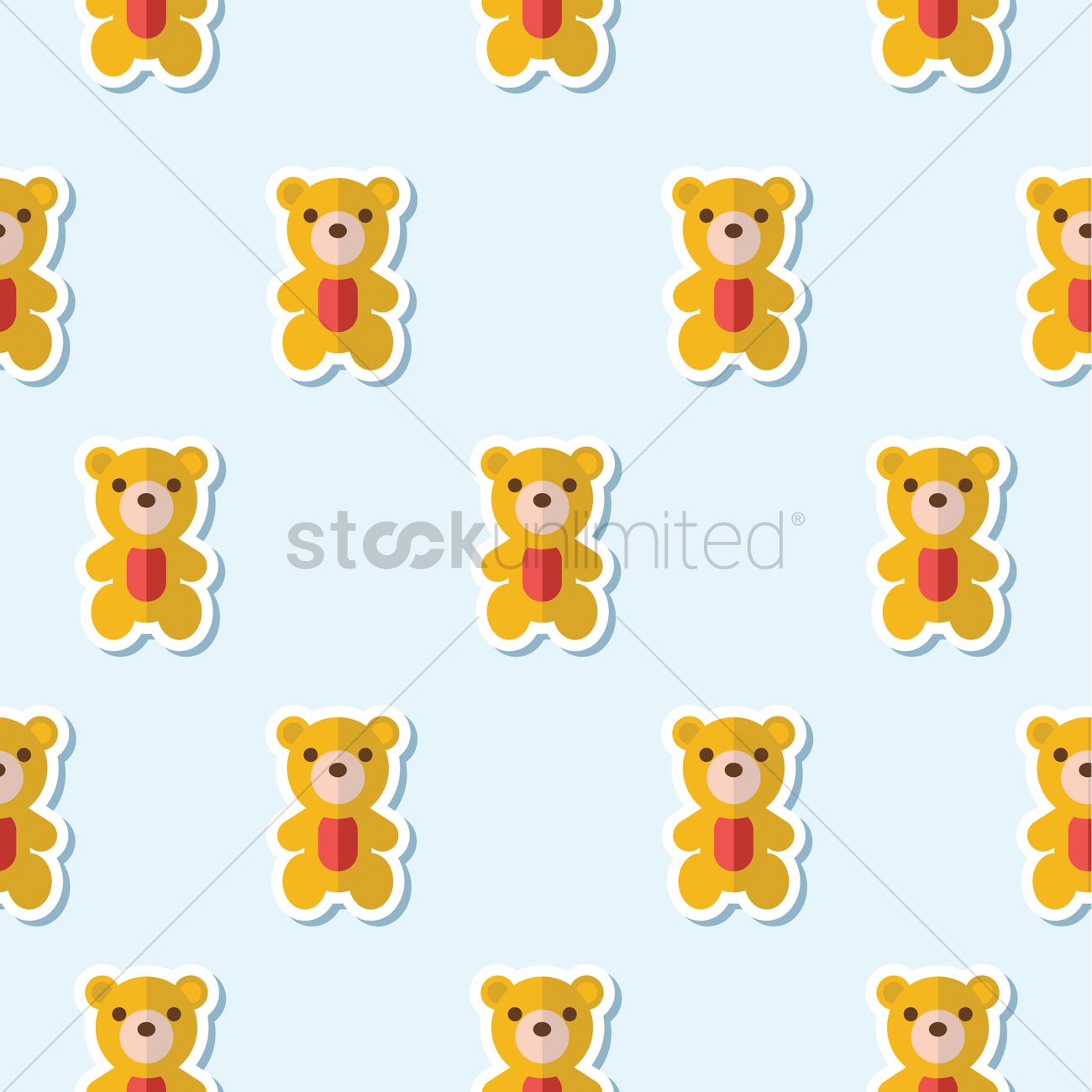 Teddy Bear Pattern Vector Image 1303083 Stockunlimited