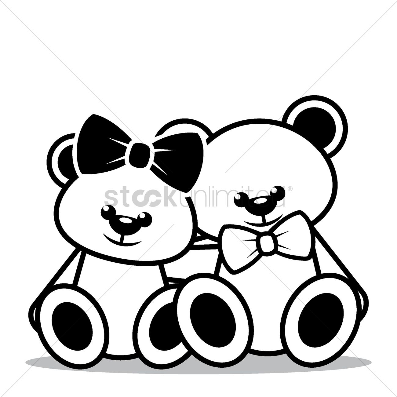 Teddy bears sitting together Vector Image  1504371  StockUnlimited