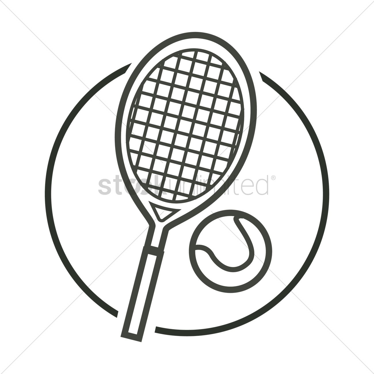 Tennis Racket And Ball Vector Image 1974391 Stockunlimited
