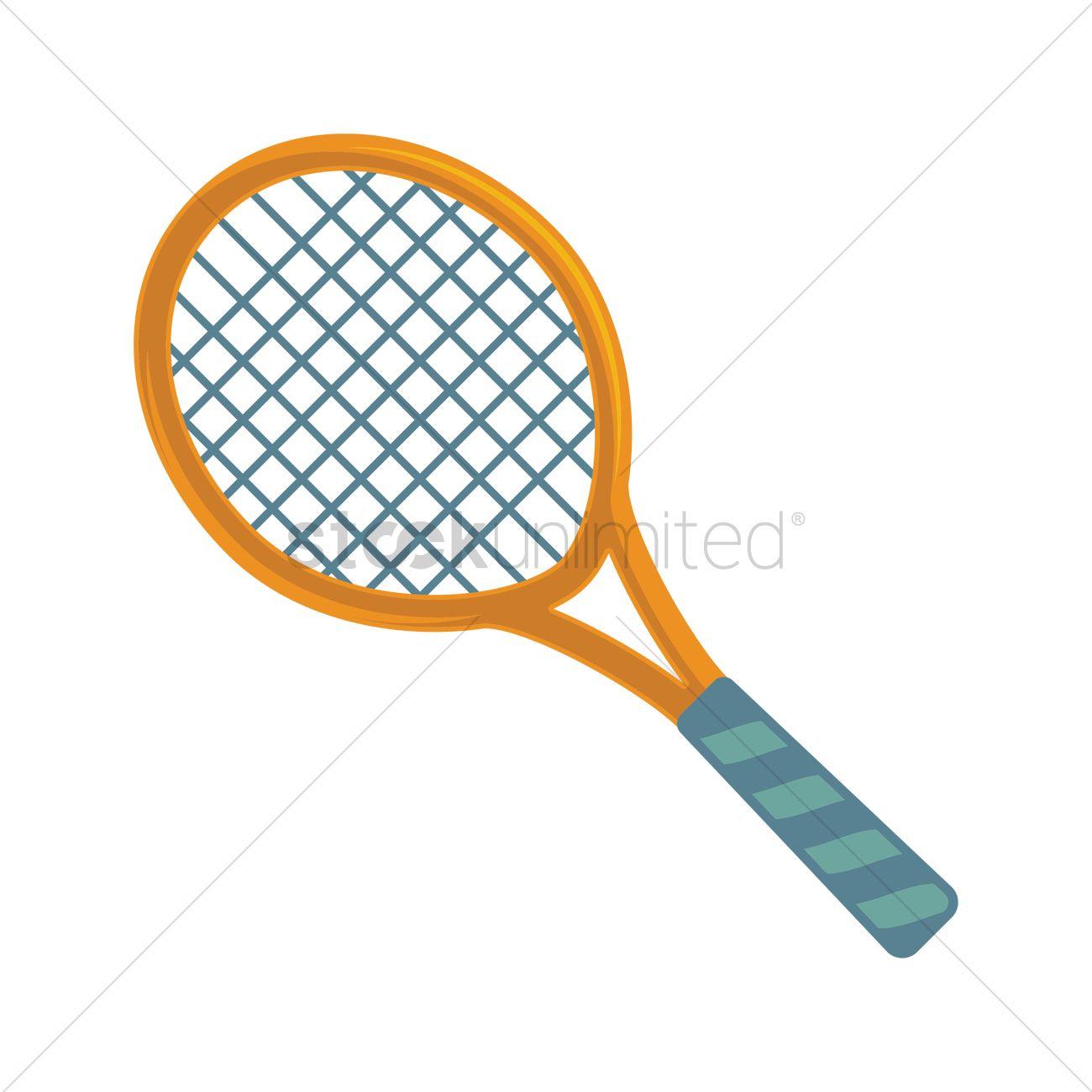 Tennis Racket Icon Vector Image 2032727 Stockunlimited