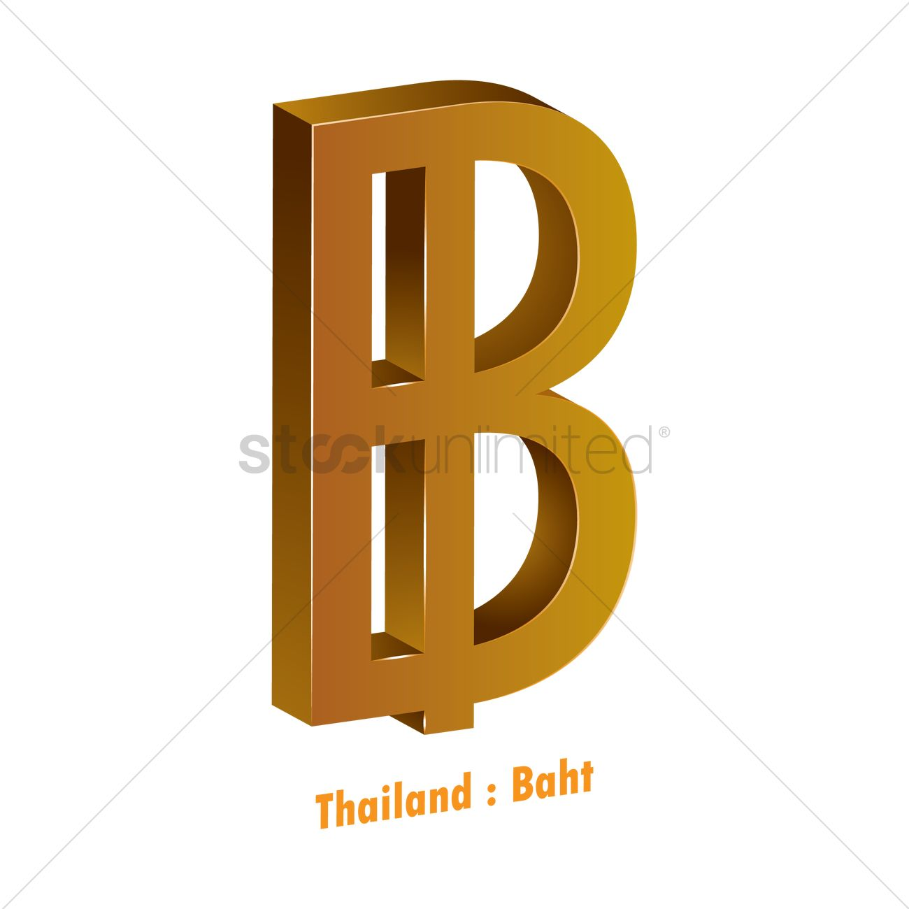 Thailand Currency Symbol Vector Image 1821599 Stockunlimited