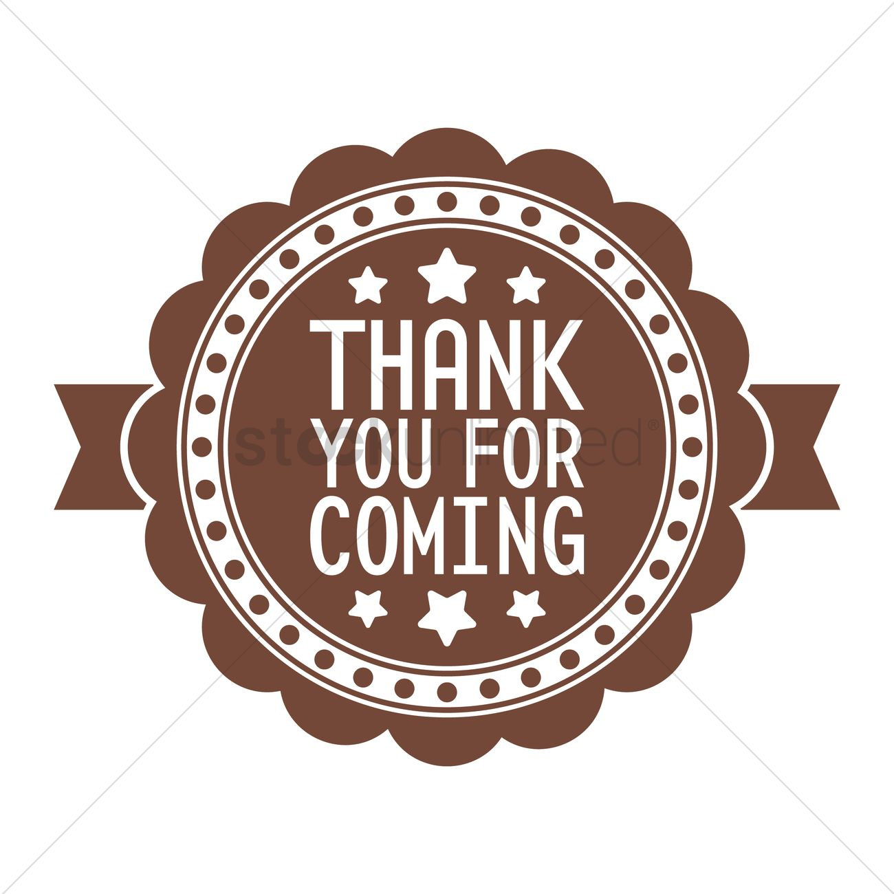 Thank you for coming label Vector Image - 1708127