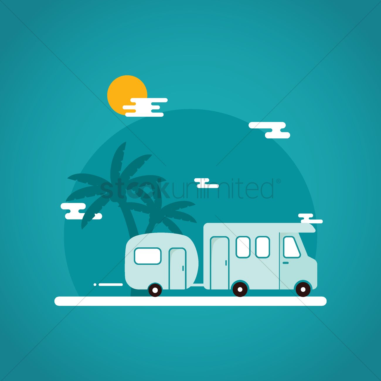 Travel Wallpaper Vector Image 1712795 Stockunlimited