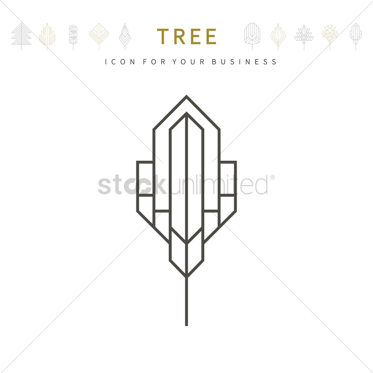 Tree template design vector image 1979903 stockunlimited tree template design vector graphic friedricerecipe Choice Image