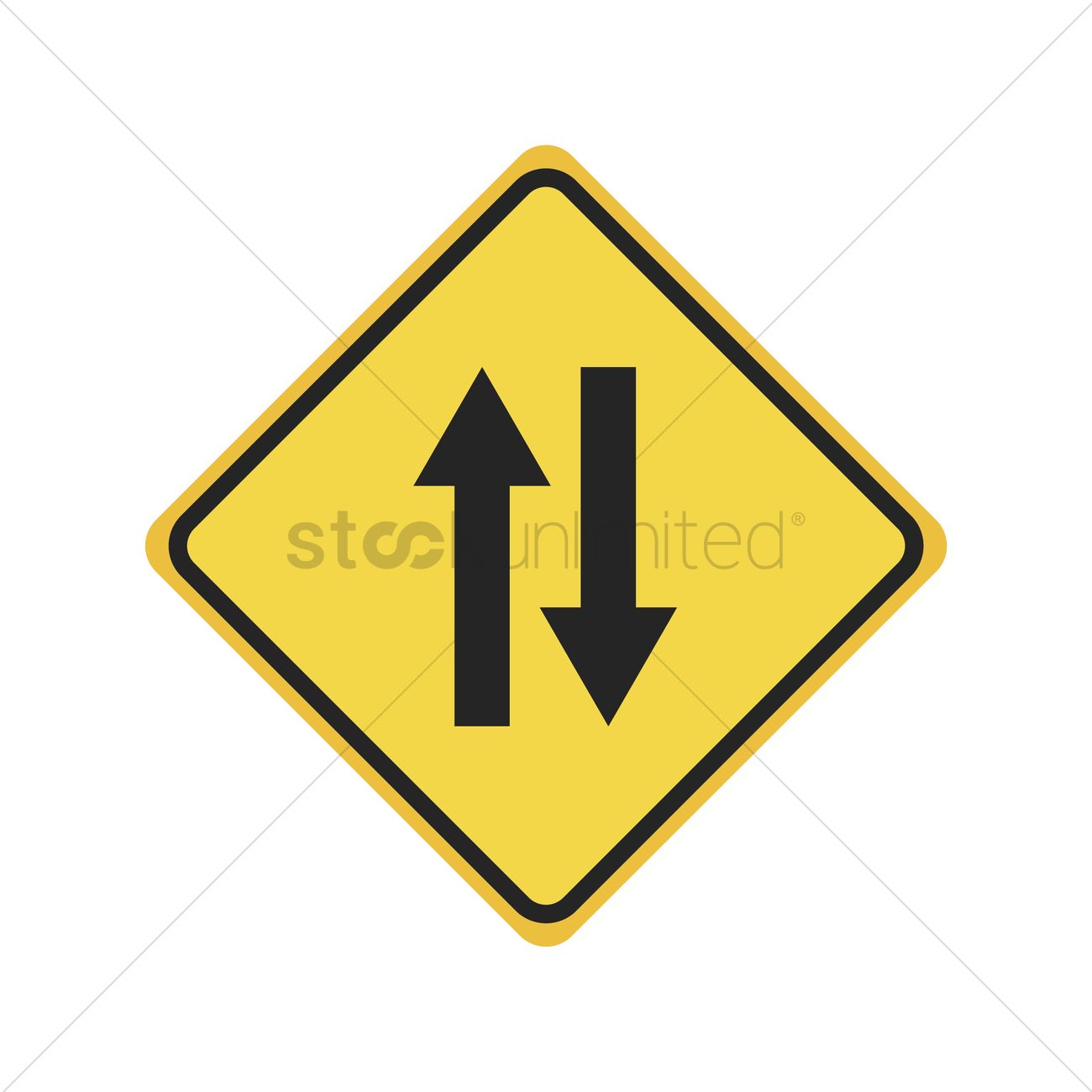 Two way traffic ahead - Fleet Dynamic |Two Way Traffic Ahead Sign