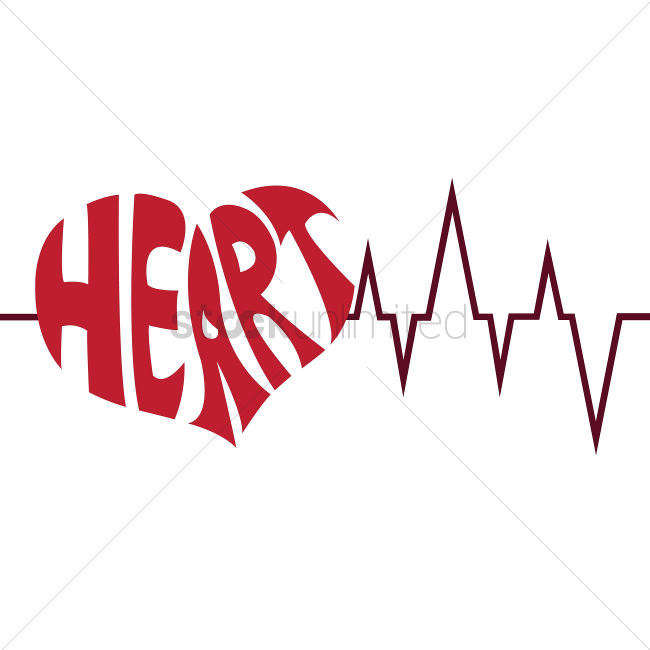 Typography of the word heart Vector Image - 1237963 ...